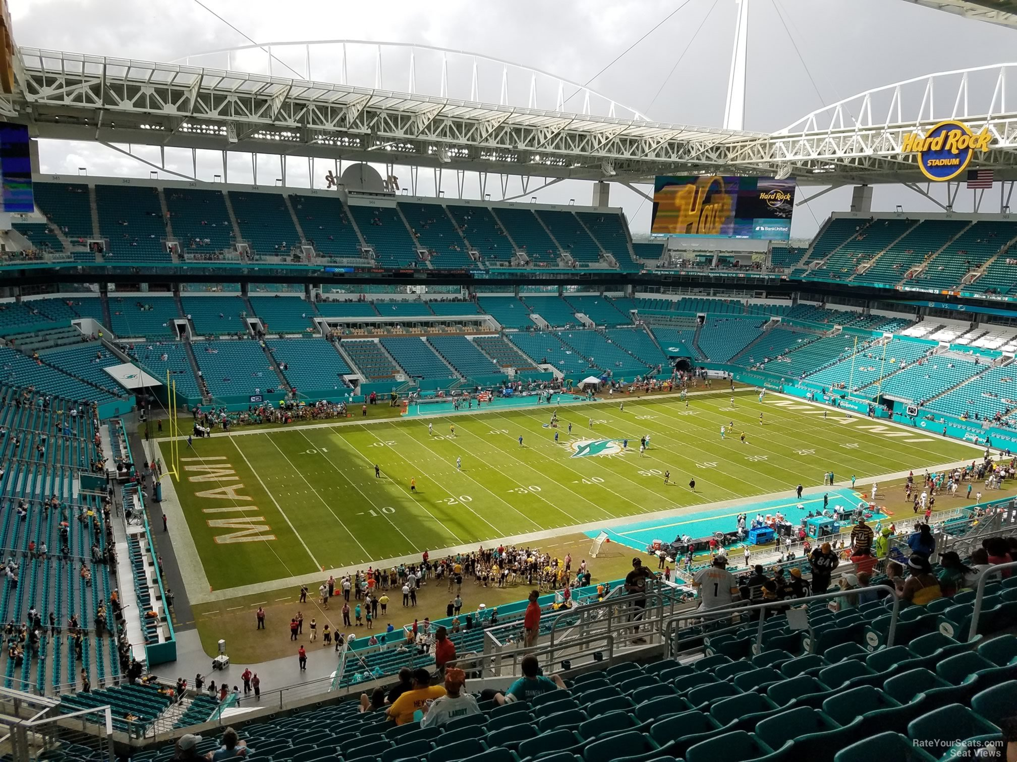 Seat View for Hard Rock Stadium Section 323, Row 20