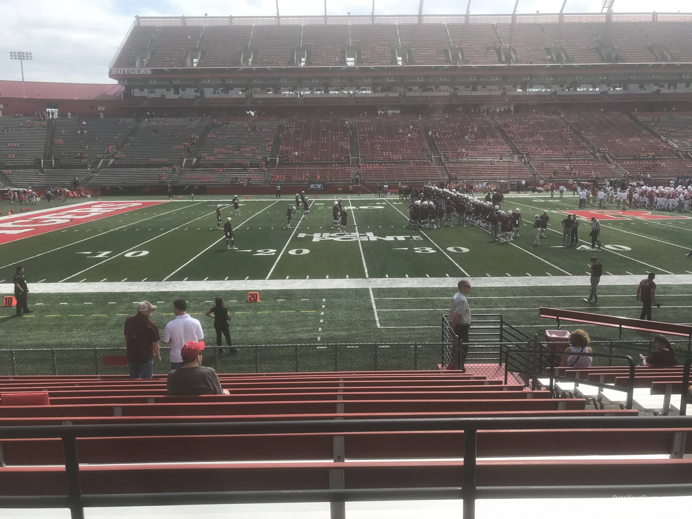 Seat View for High Point Solutions Stadium Section 107, Row 11