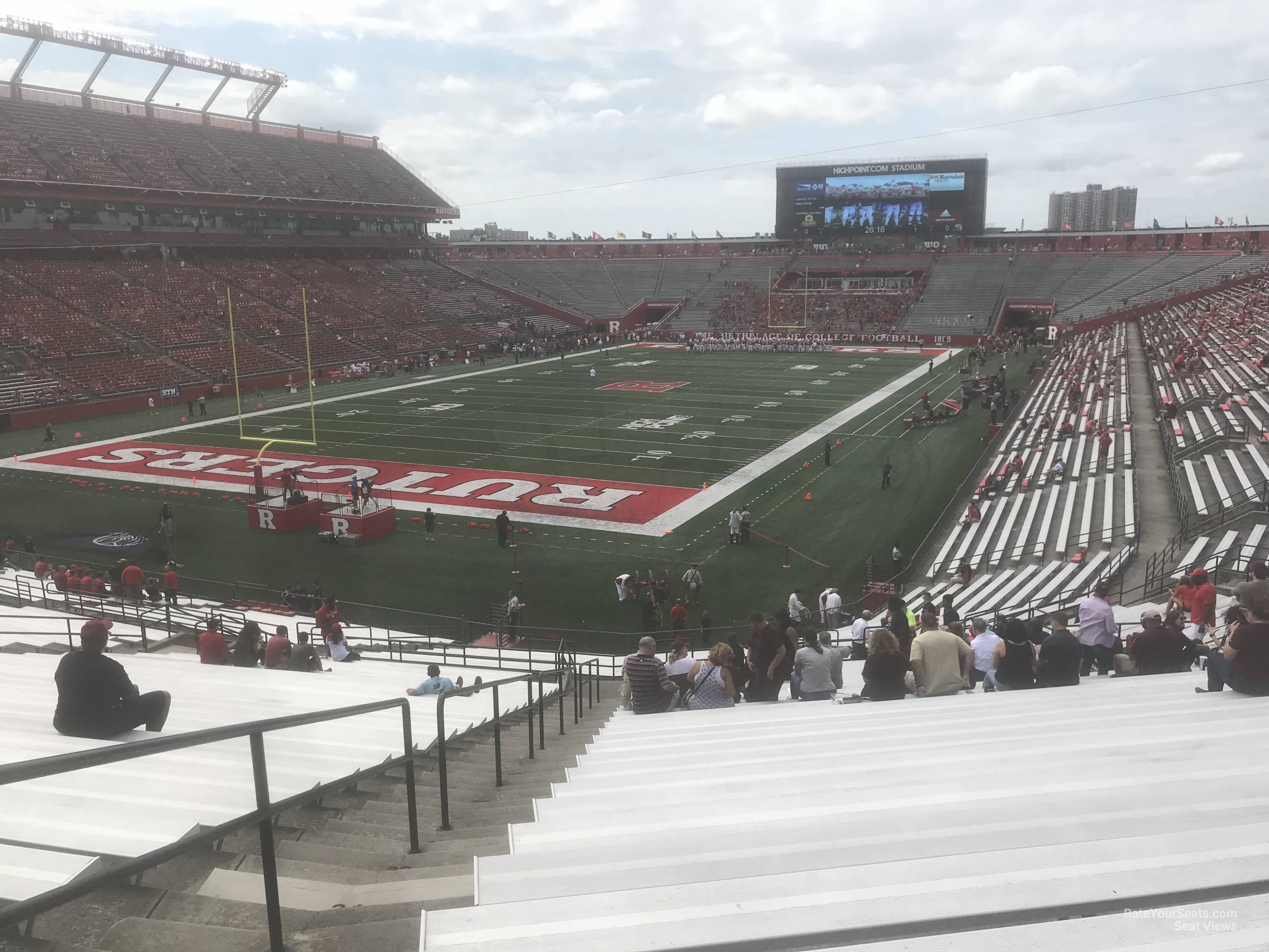 Seat View for High Point Solutions Stadium Section 112, Row 40
