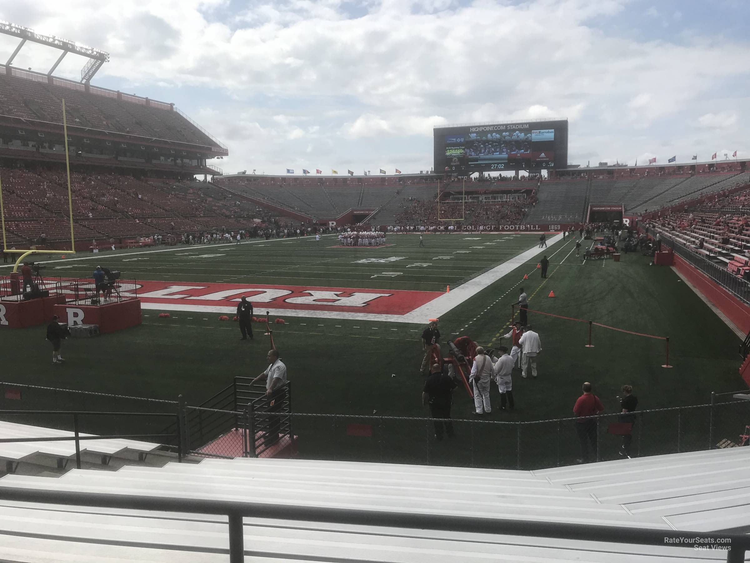 Seat View for High Point Solutions Stadium Section 113, Row 1