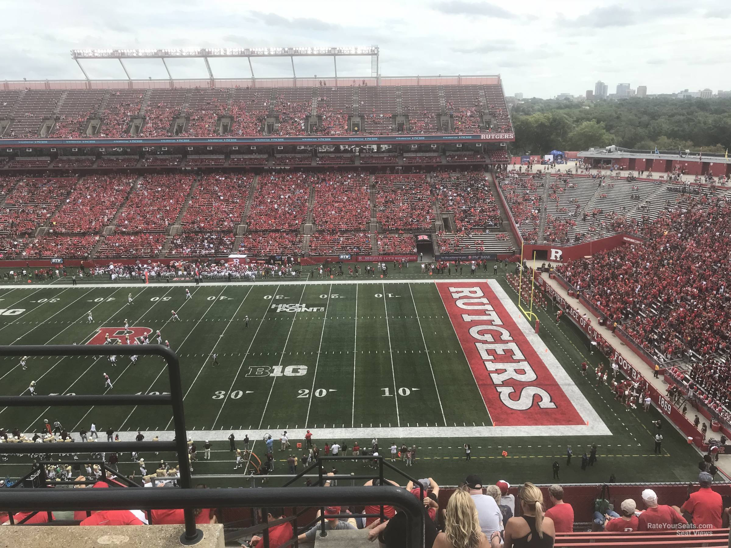 Seat View for High Point Solutions Stadium Section 220, Row 10