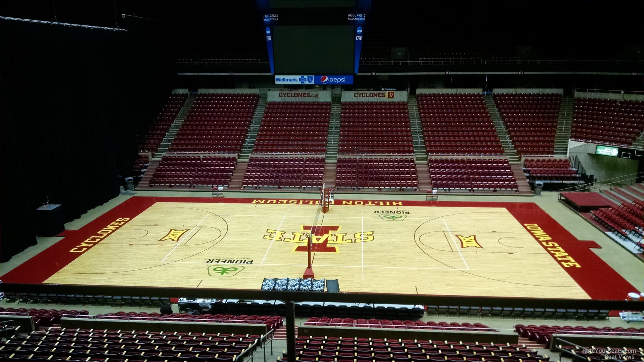 Seat View for Hilton Coliseum Section 211, Row 1