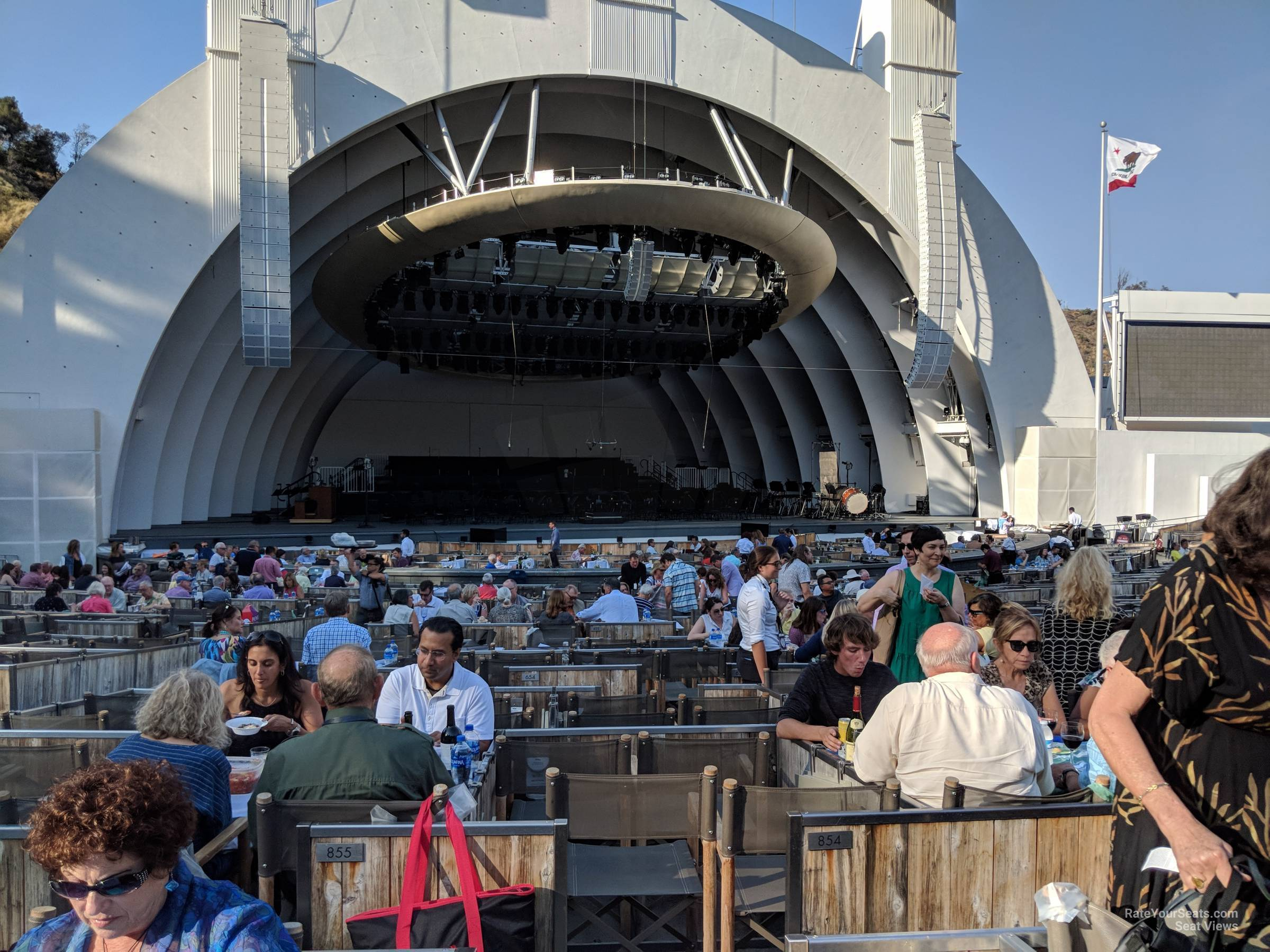 Hollywood Bowl Concerts >> Hollywood Bowl Garden 5 - RateYourSeats.com
