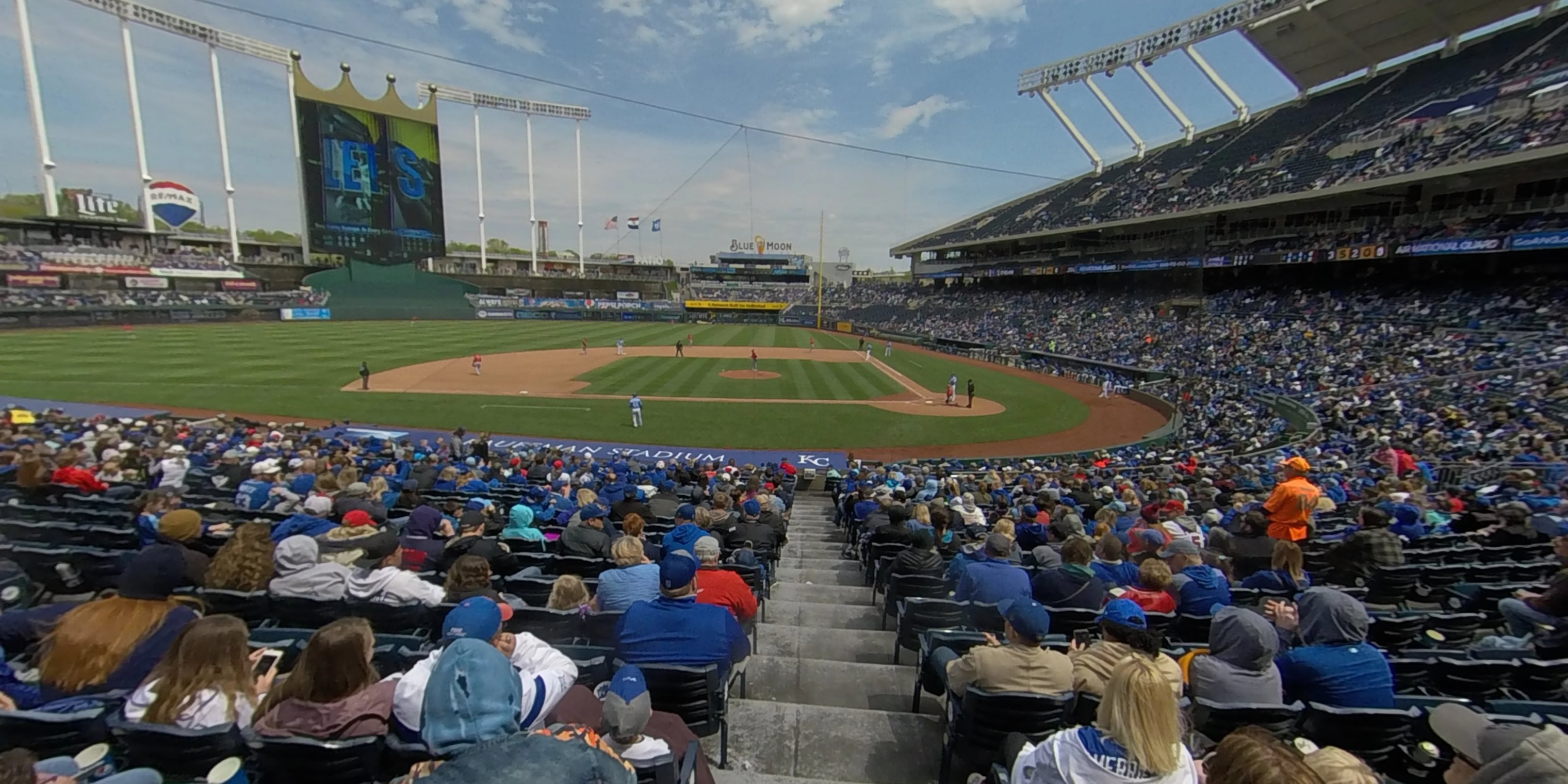 360° Photo From Kauffman Stadium Section 122