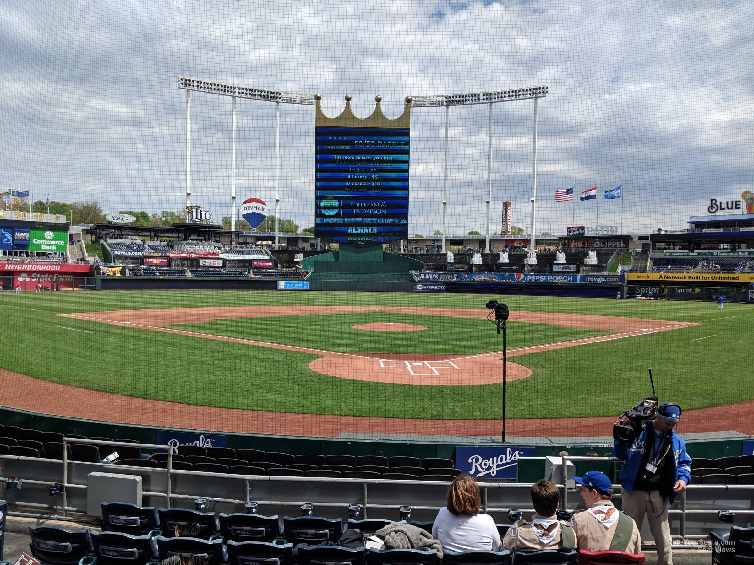 Seat View for Kauffman Stadium Section 127, Row K