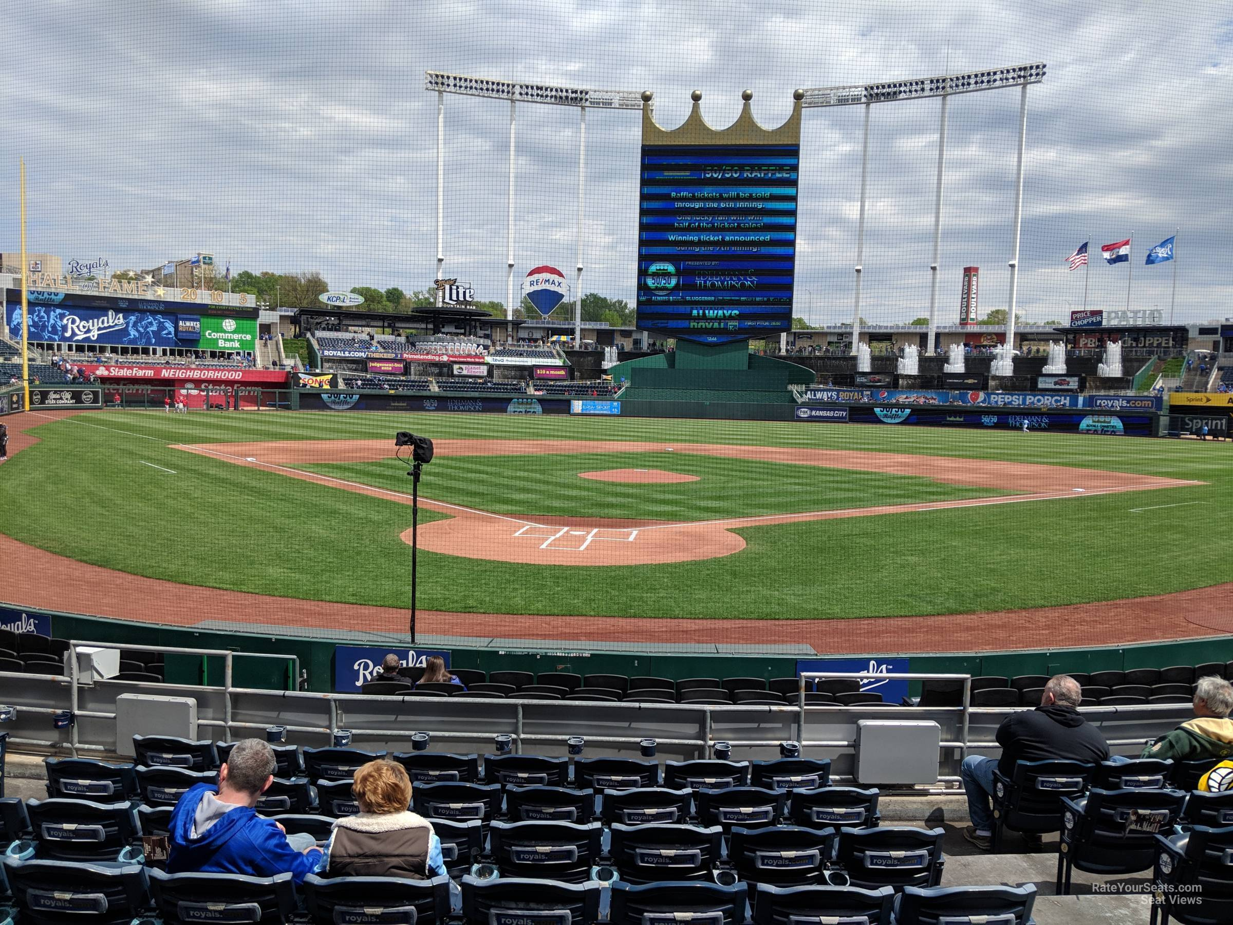 Seat View for Kauffman Stadium Section 128, Row K