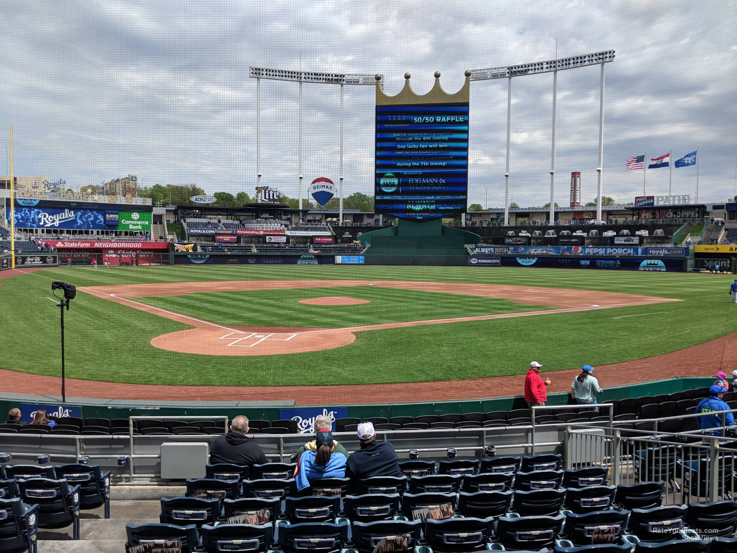 Seat View for Kauffman Stadium Section 129, Row K