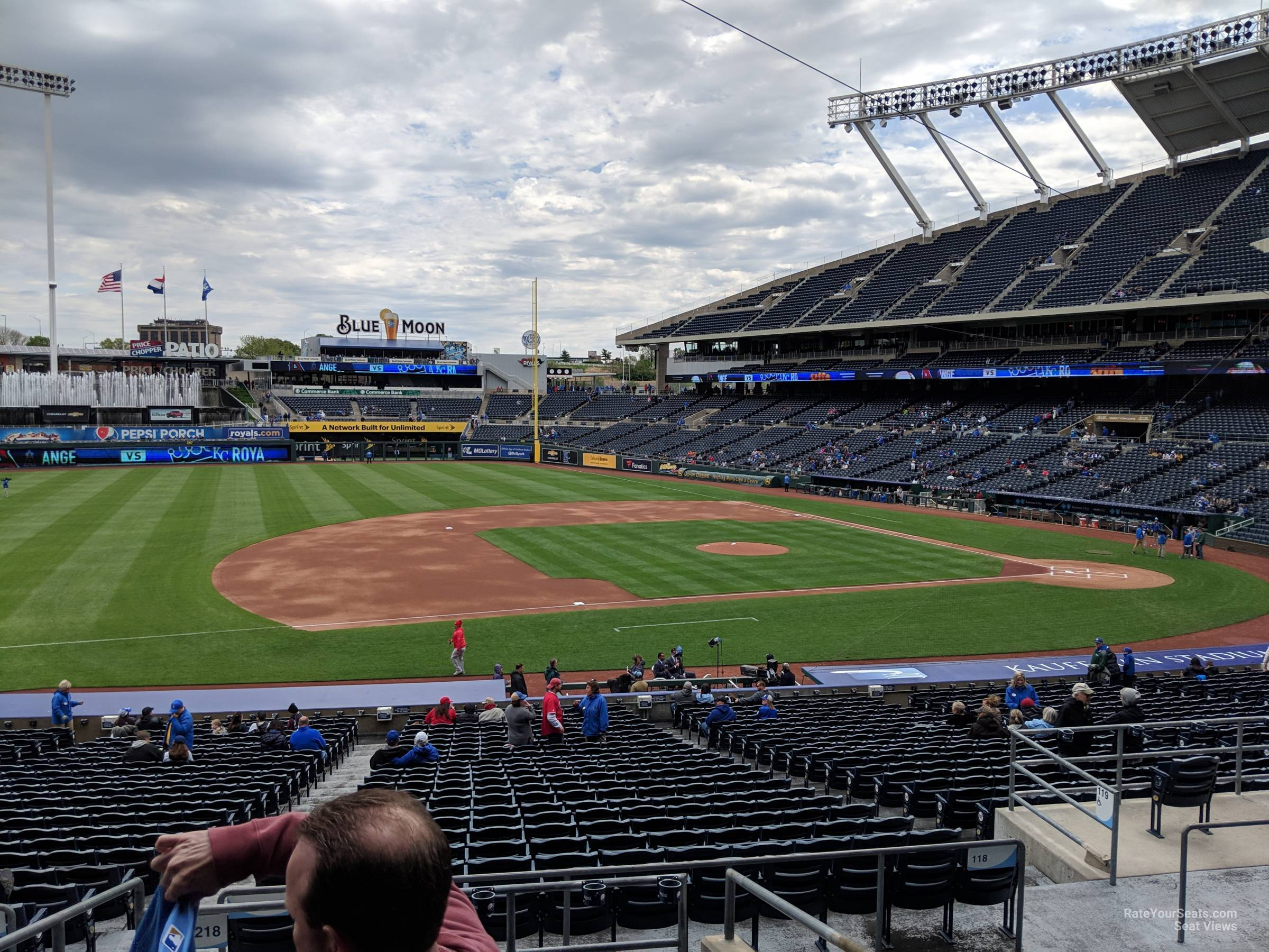Seat View for Kauffman Stadium Section 218, Row FF