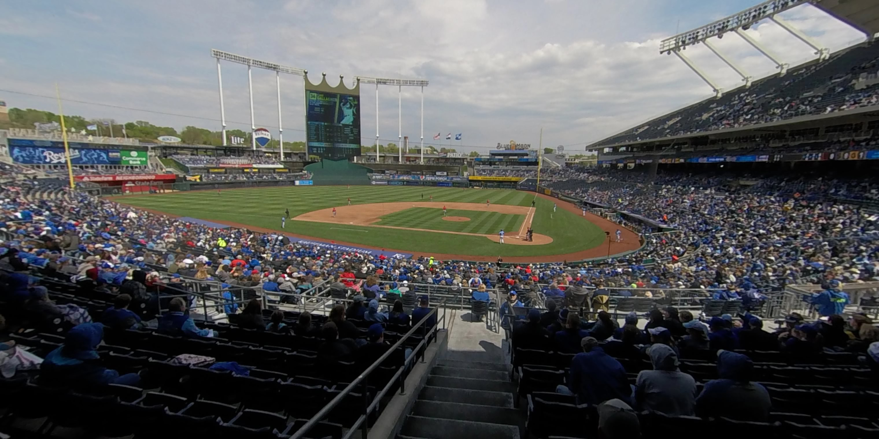 360° Photo From Kauffman Stadium Section 225