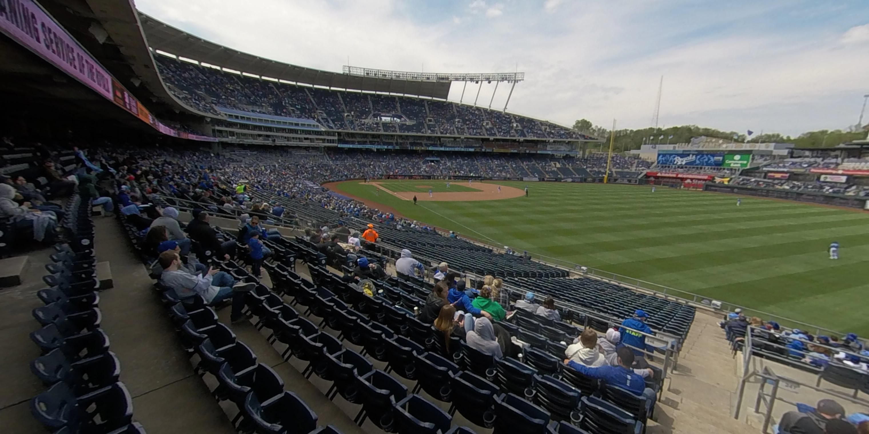 360° Photo From Kauffman Stadium Section 247