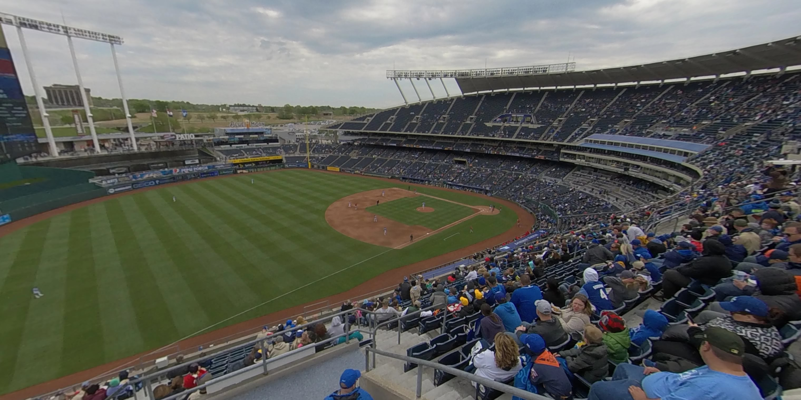 360° Photo From Kauffman Stadium Section 405