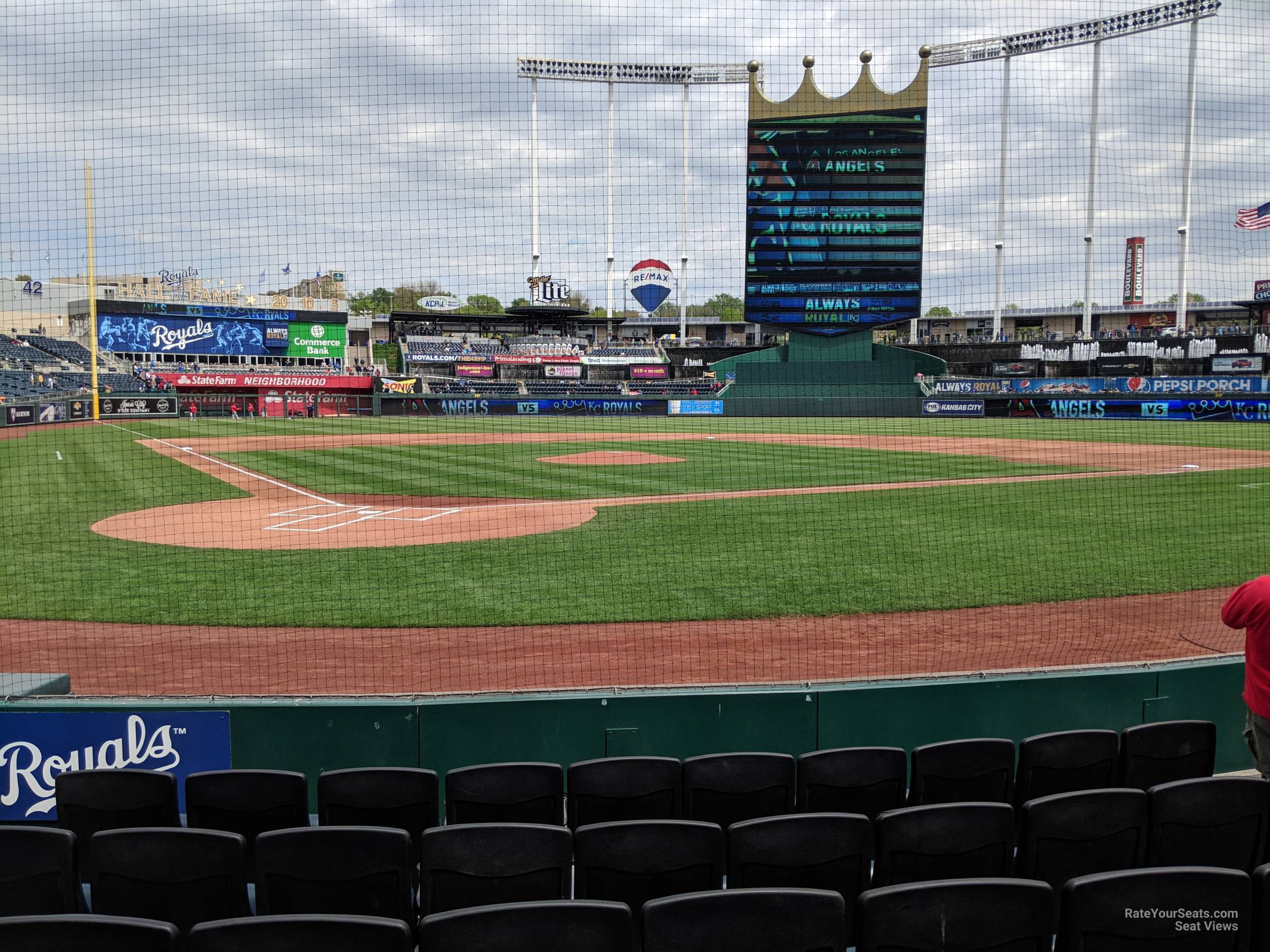 Seat View for Kauffman Stadium Crown 5, Row e