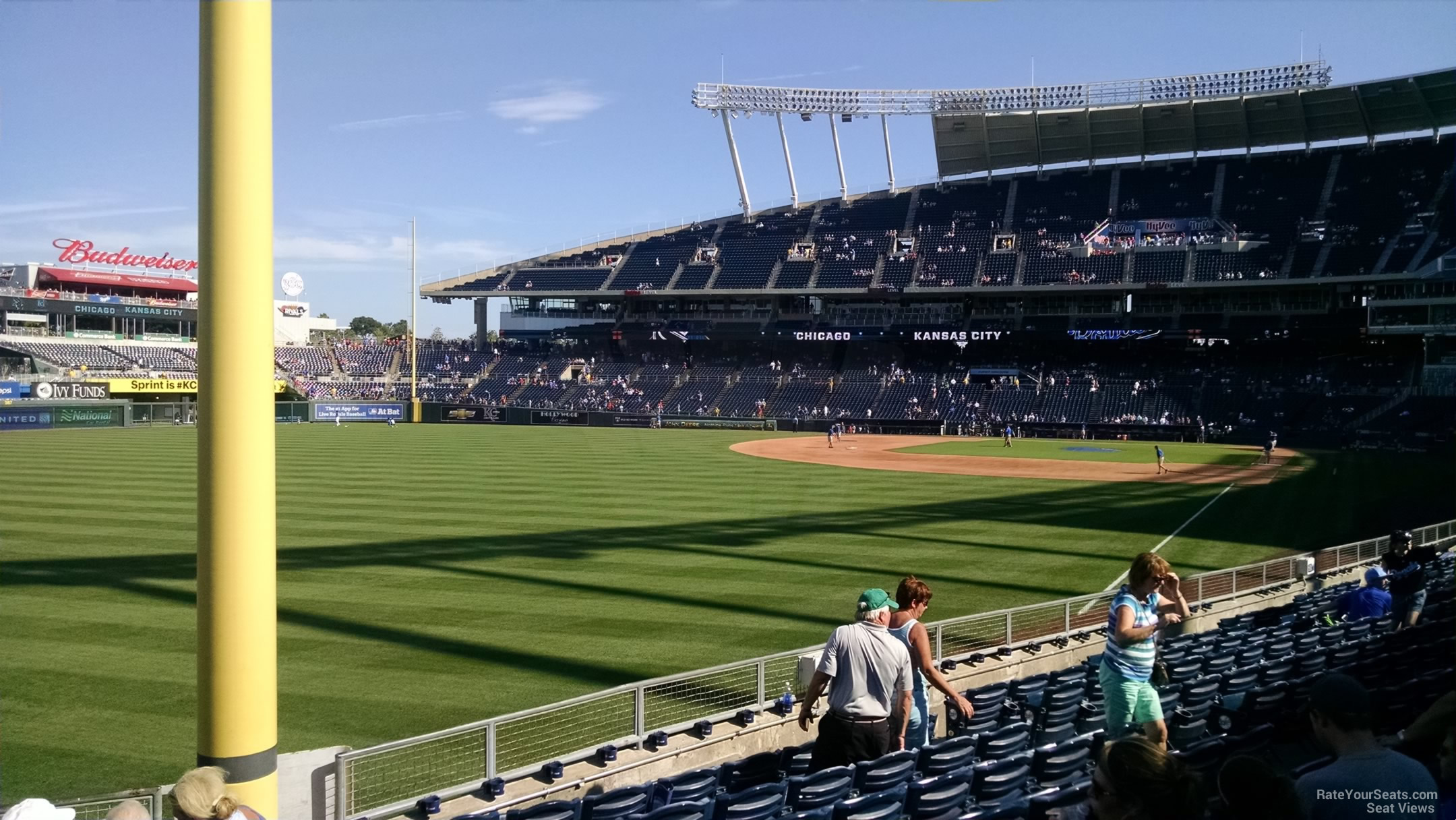 Seat View for Kauffman Stadium Section 108, Row S