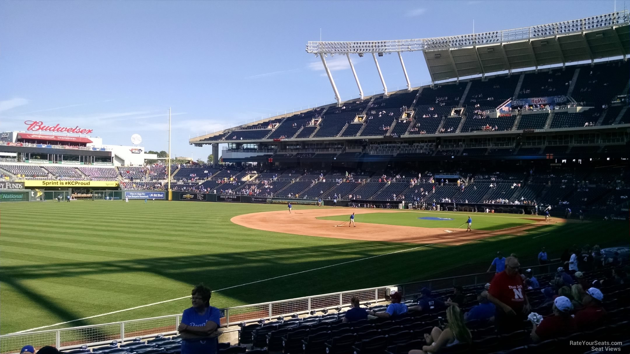 Seat View for Kauffman Stadium Section 112, Row S