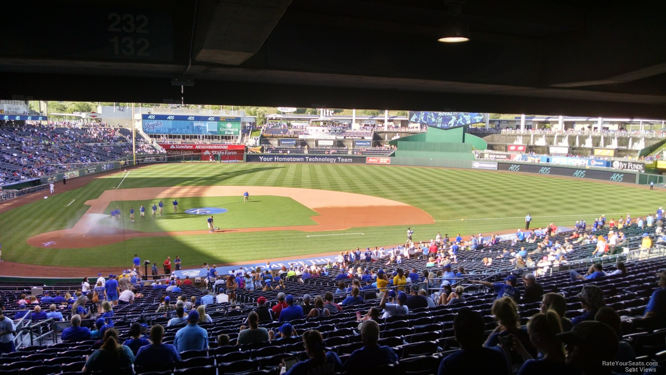Seat View for Kauffman Stadium Section 232, Row TT