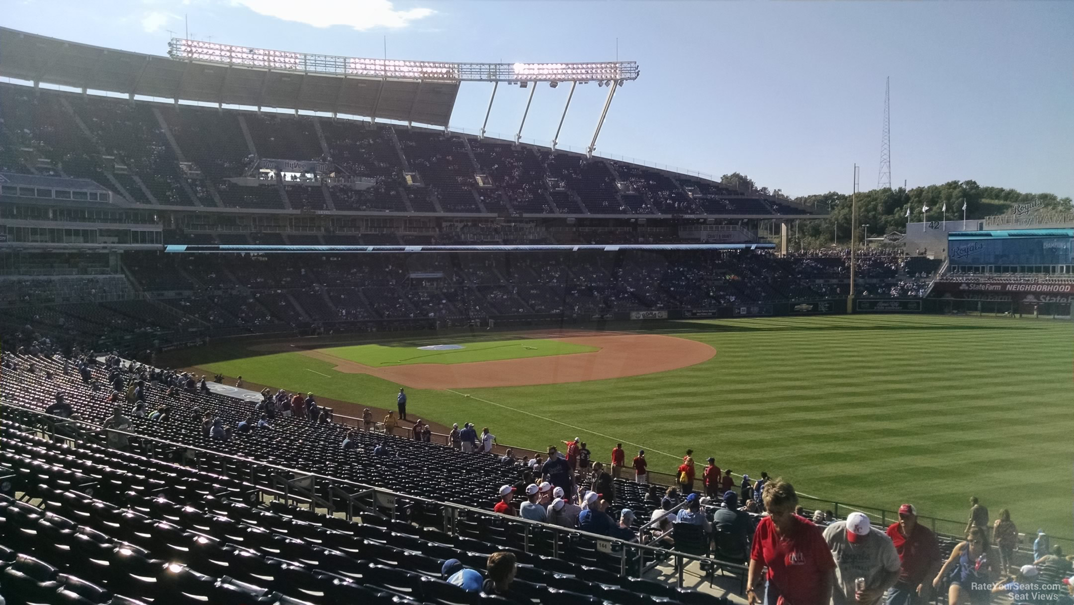 Seat View for Kauffman Stadium Section 245, Row LL