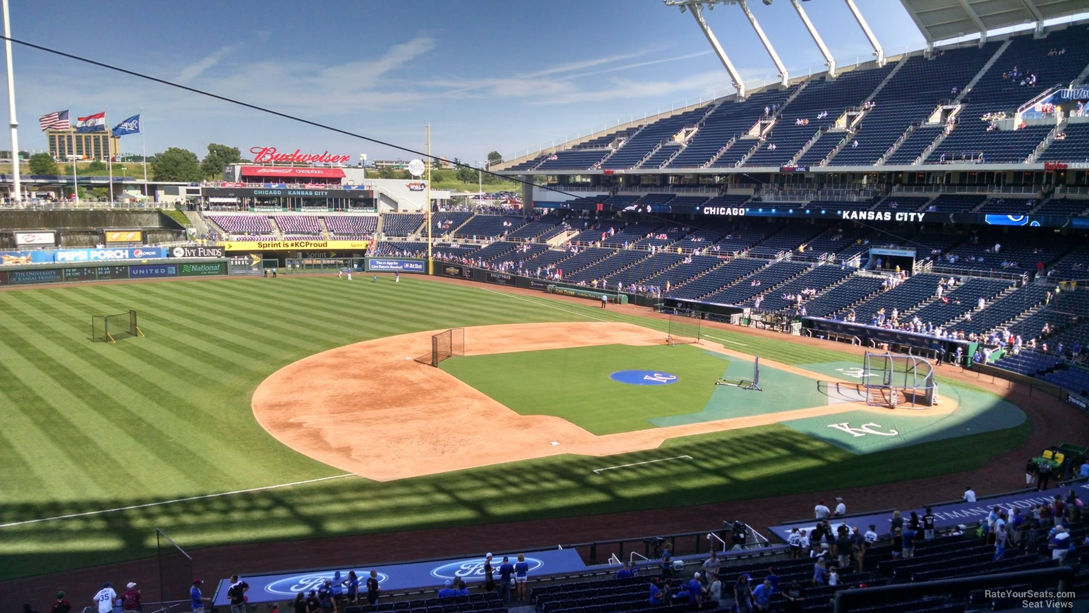 Seat View for Kauffman Stadium Section 304, Row G