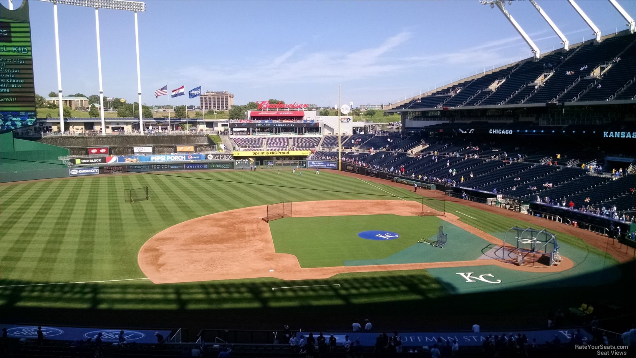 Seat View for Kauffman Stadium Section 306, Row G
