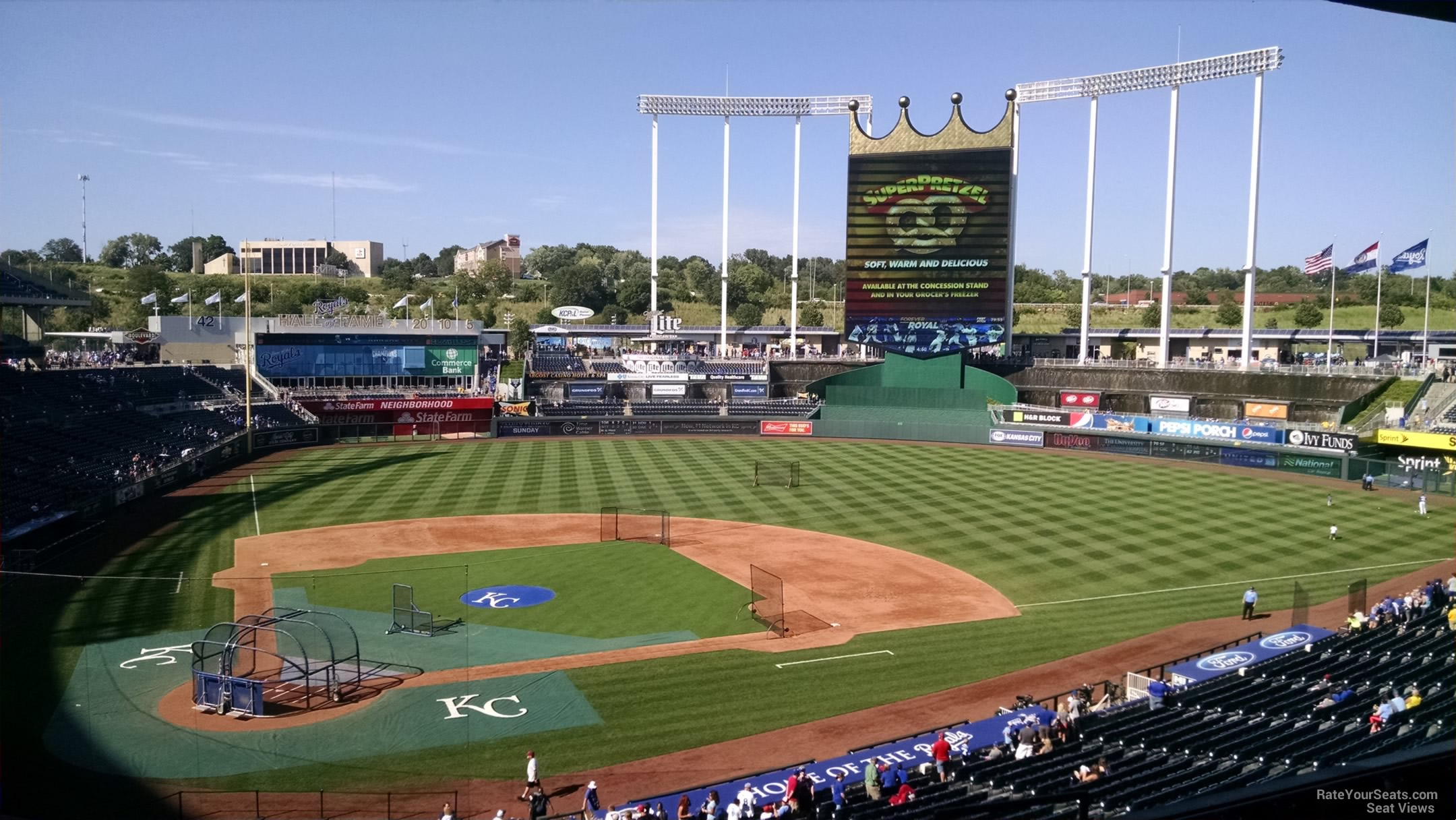 Seat View for Kauffman Stadium Section 312, Row G