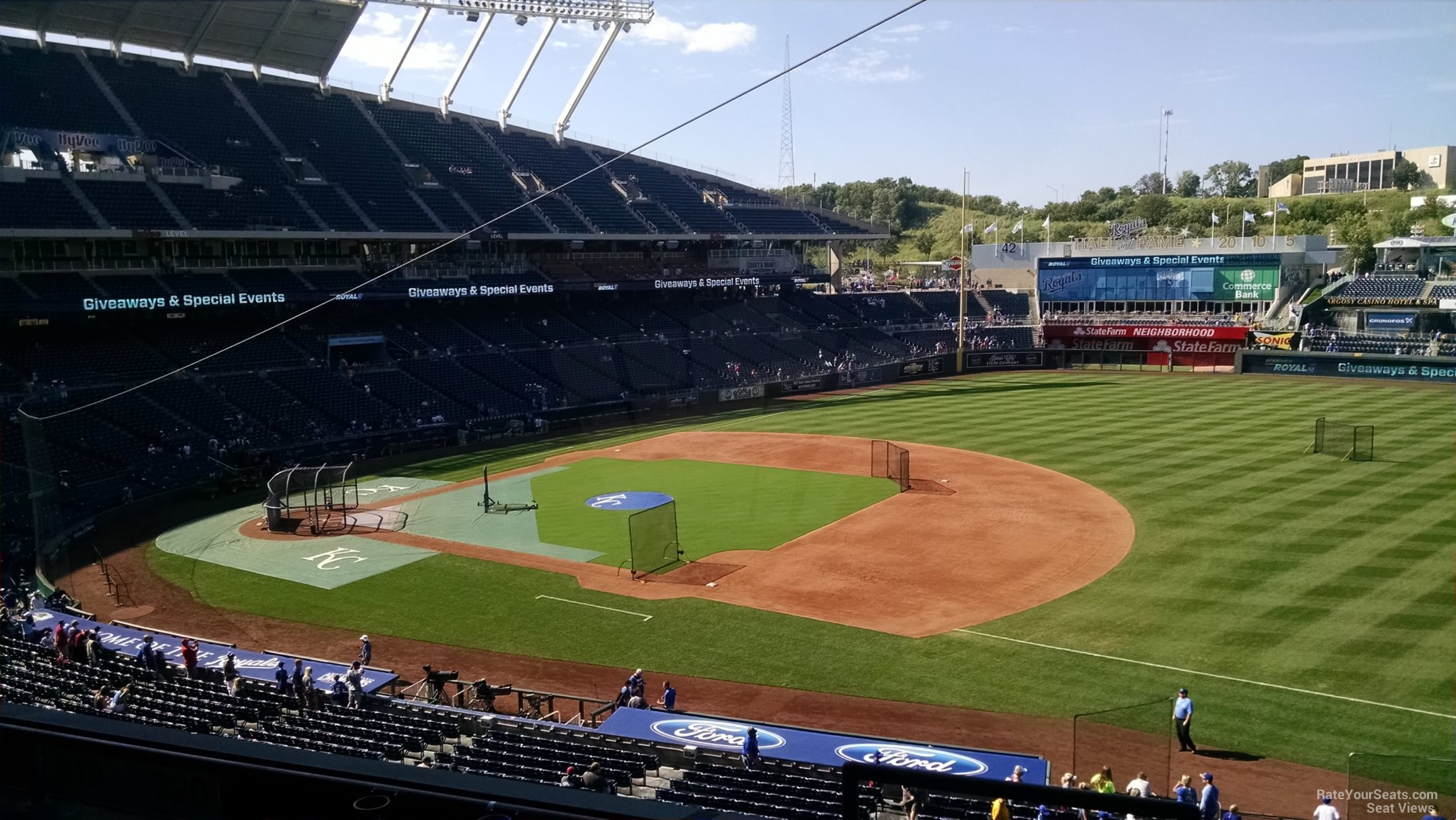 Seat View for Kauffman Stadium Section 320, Row G