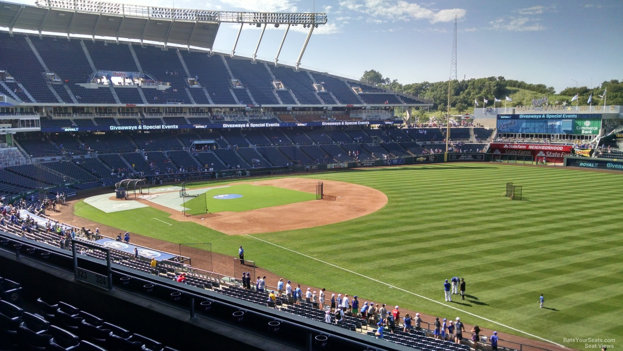 Seat View for Kauffman Stadium Section 325, Row G