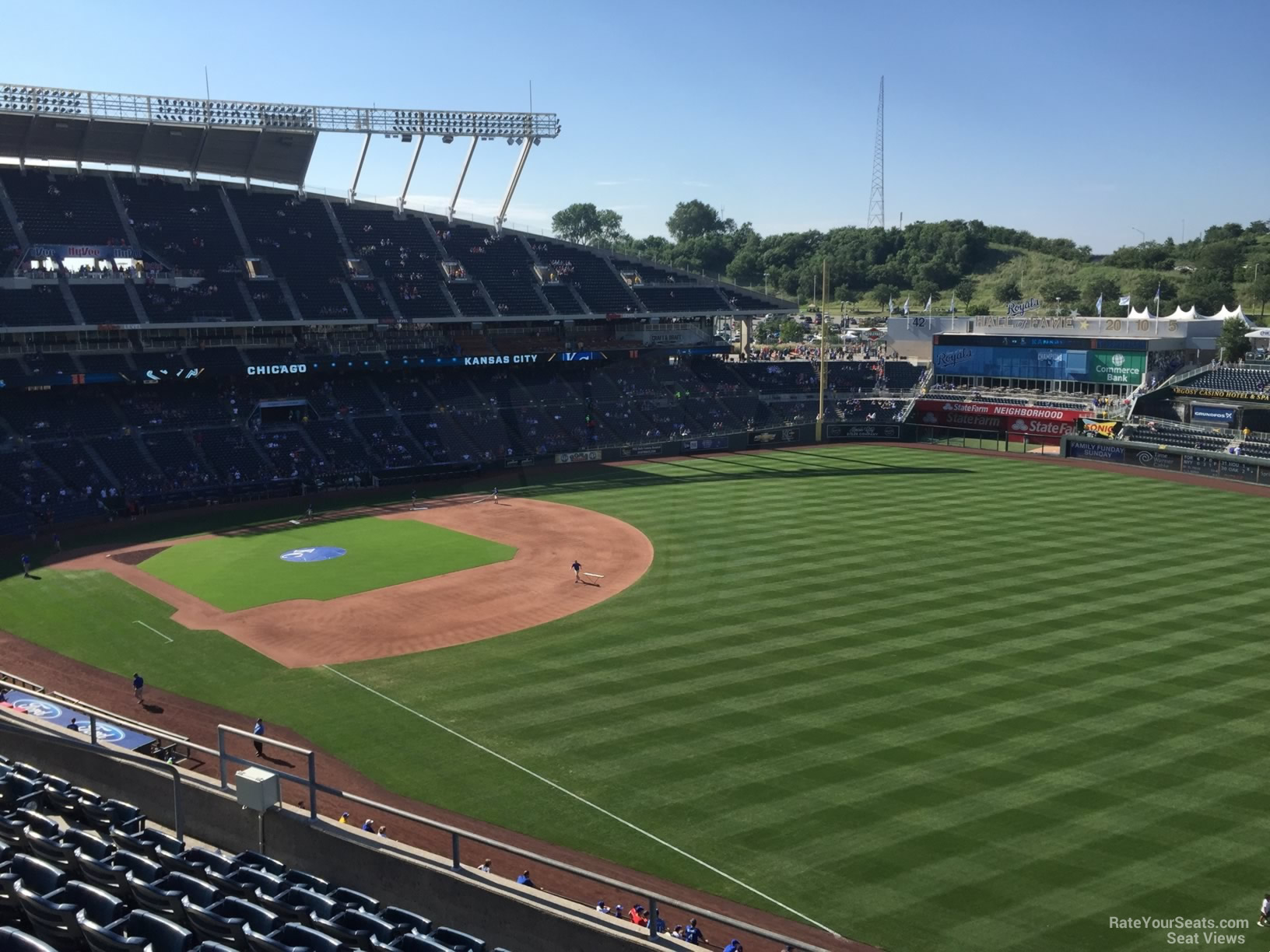 Seat View for Kauffman Stadium Section 438, Row H