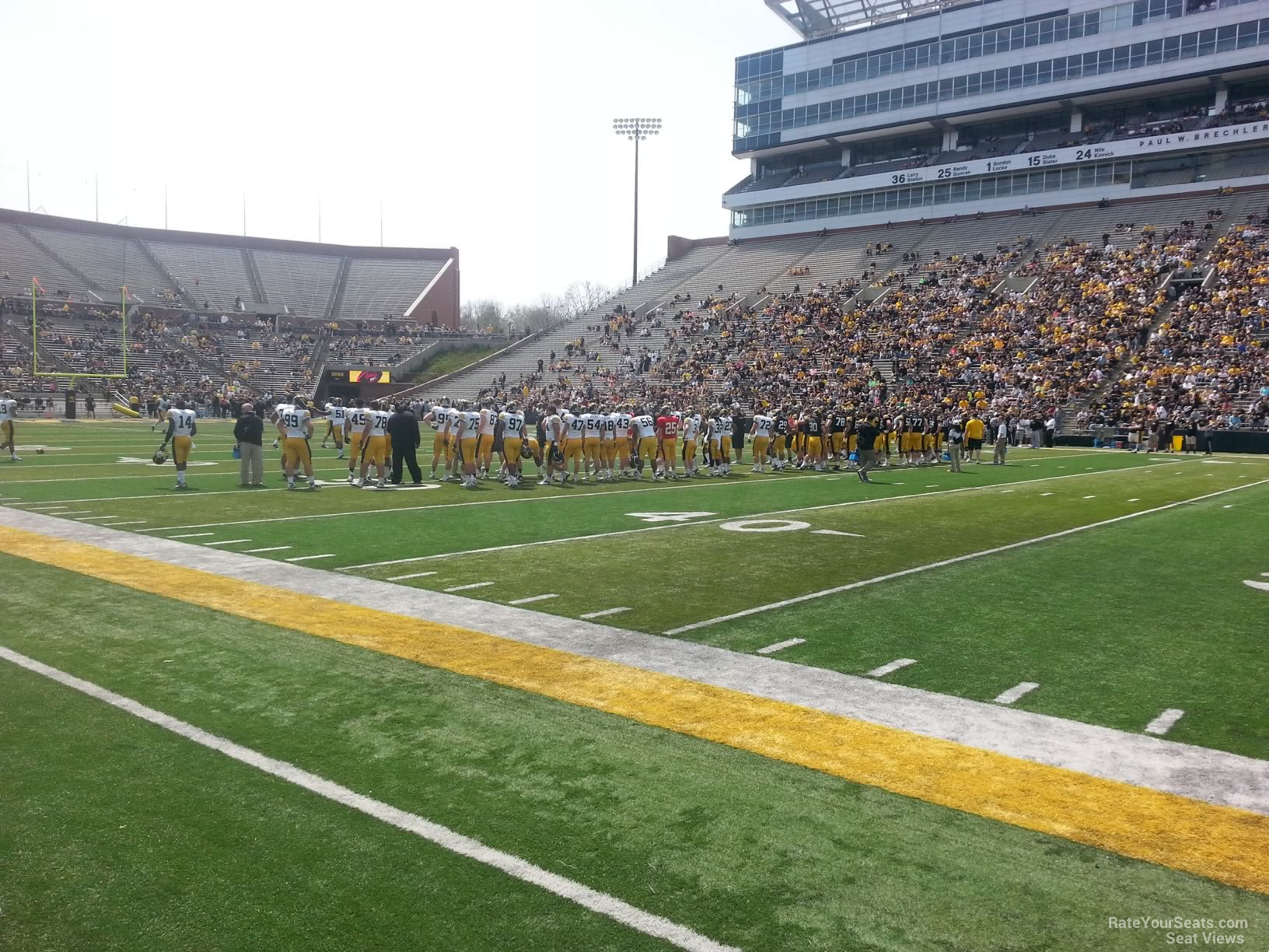 Seat View for Kinnick Stadium Section 104, Row 1