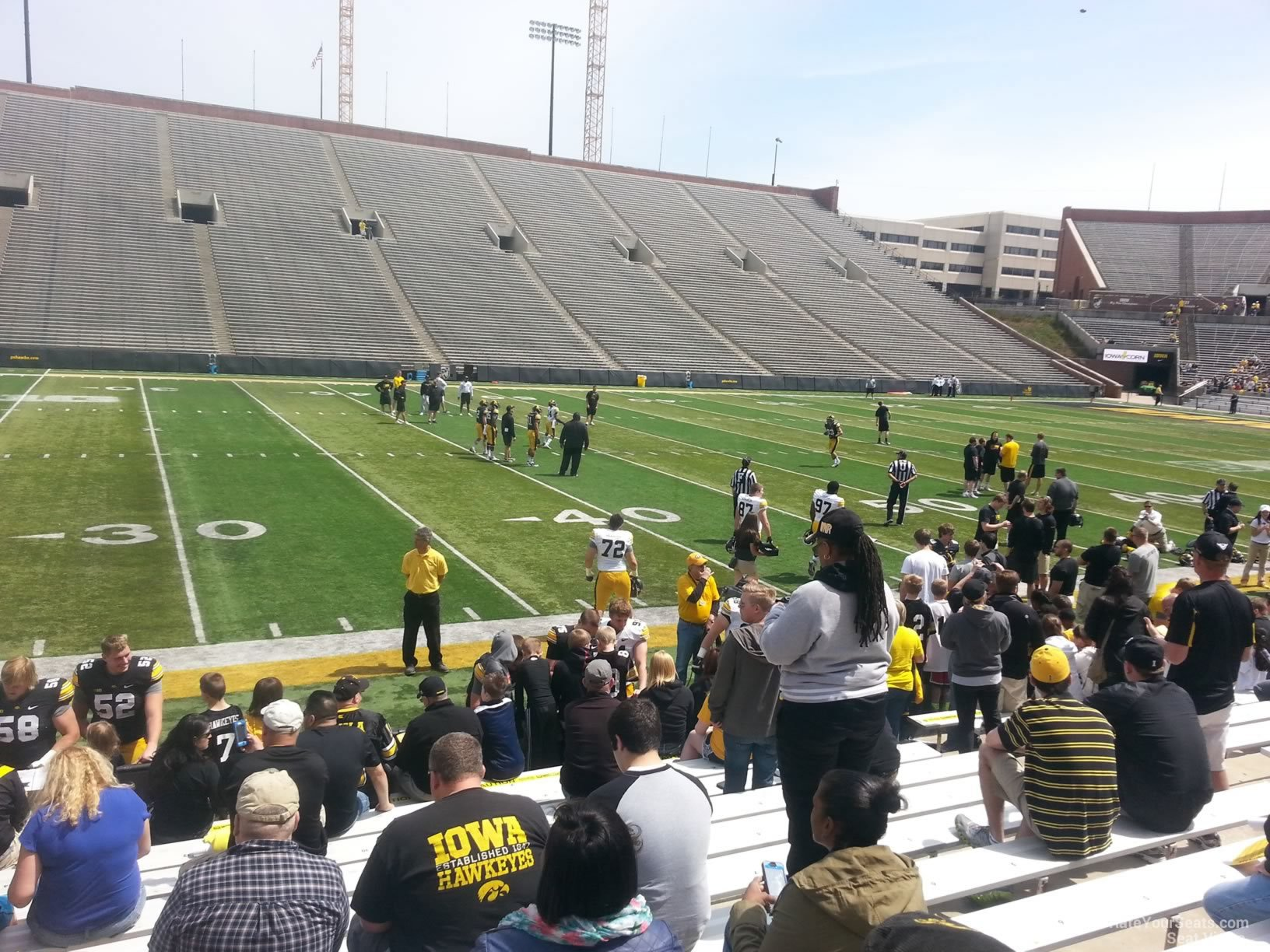Seat View for Kinnick Stadium Section 128, Row 8