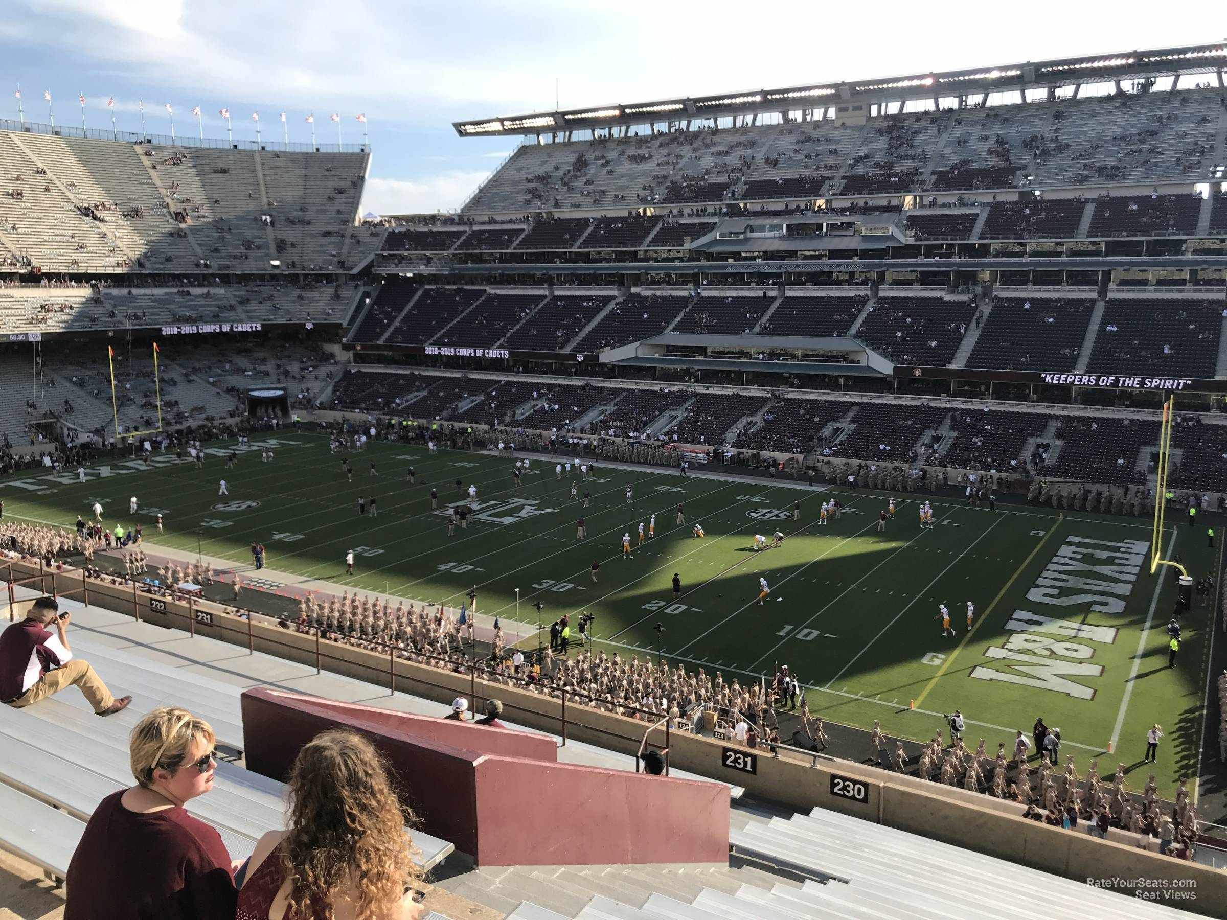 Seat View for Kyle Field Section 230, Row 20