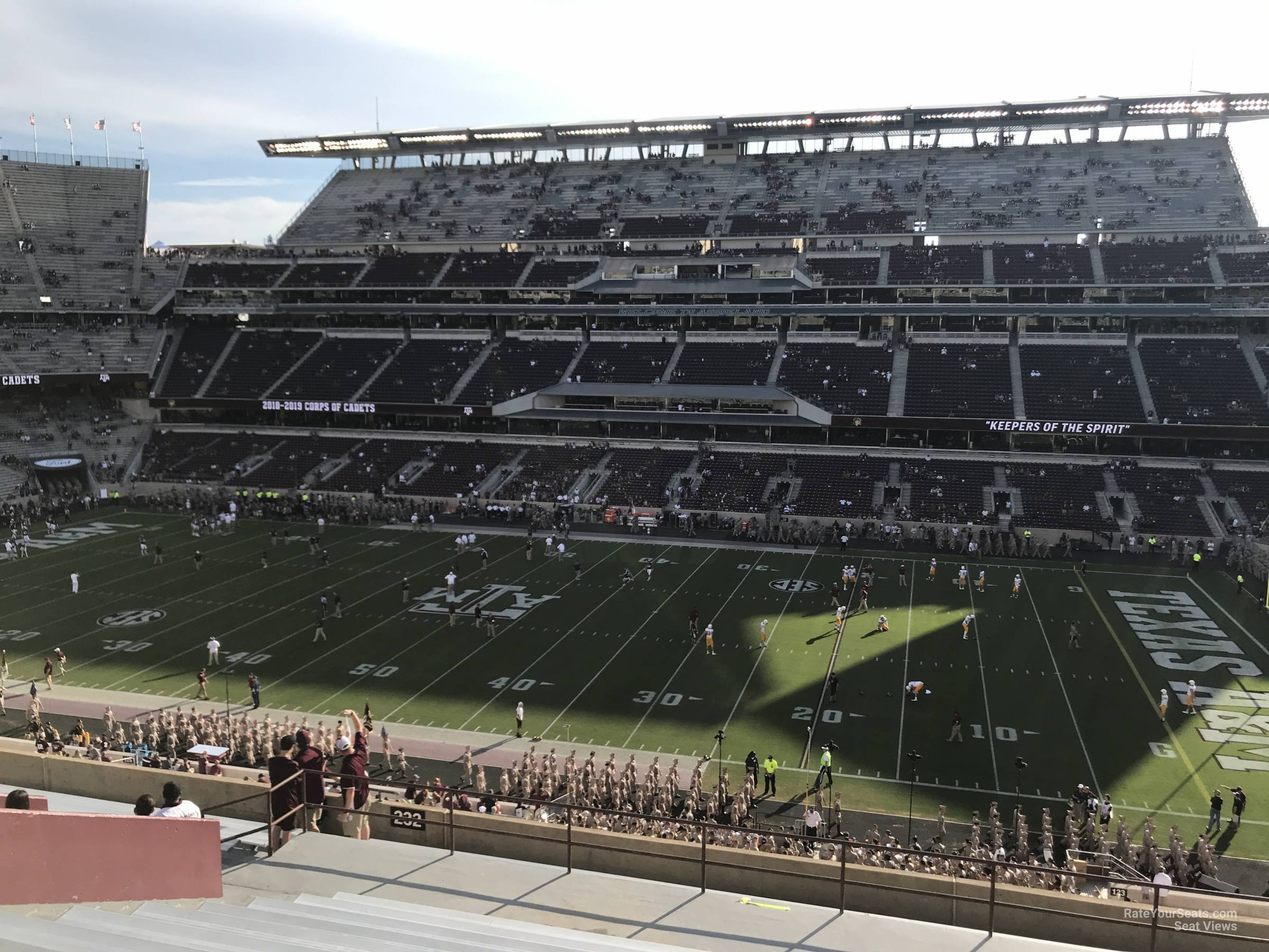 Seat View for Kyle Field Section 232, Row 20