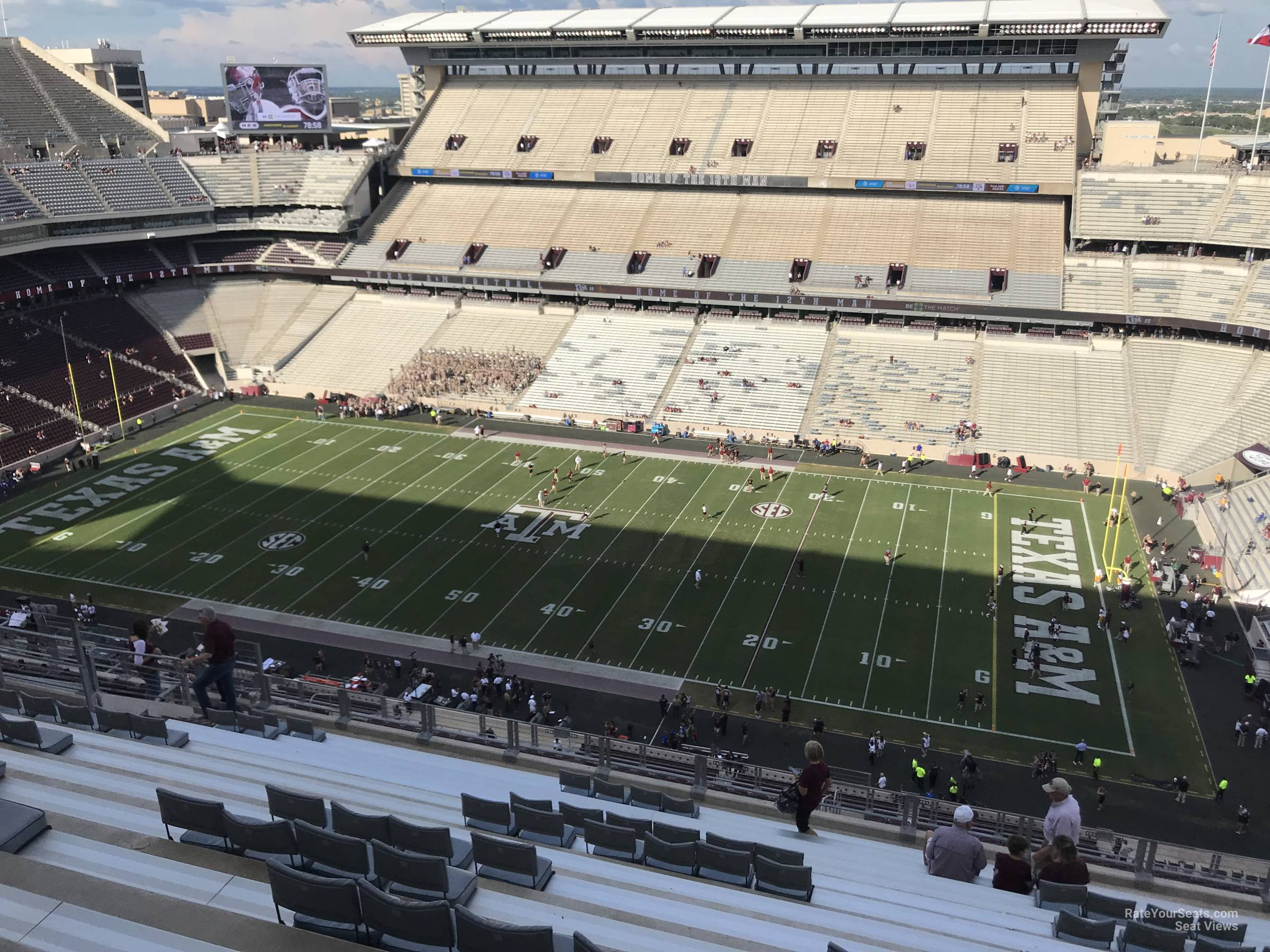 Seat View for Kyle Field Section 402, Row 15
