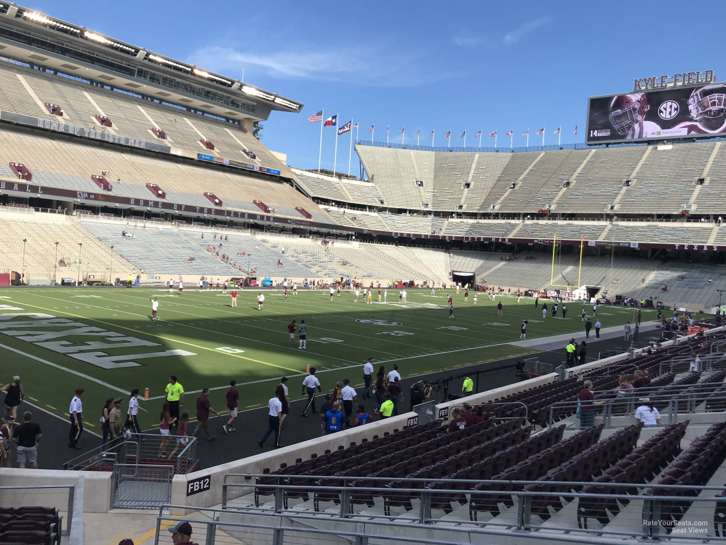 Seat View for Kyle Field Field Box 13, Row 20