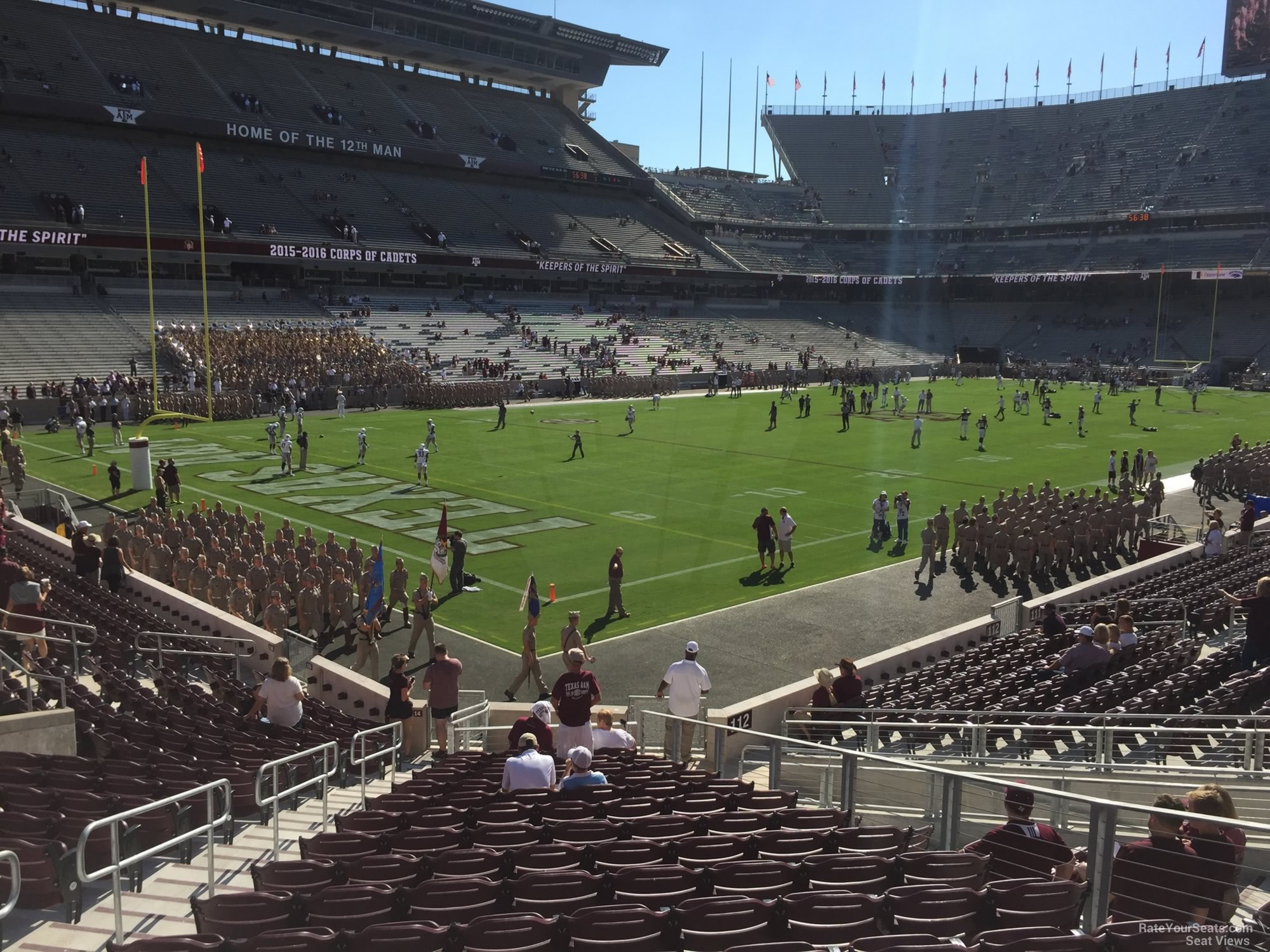 Seat View for Kyle Field Section 114, Row 20