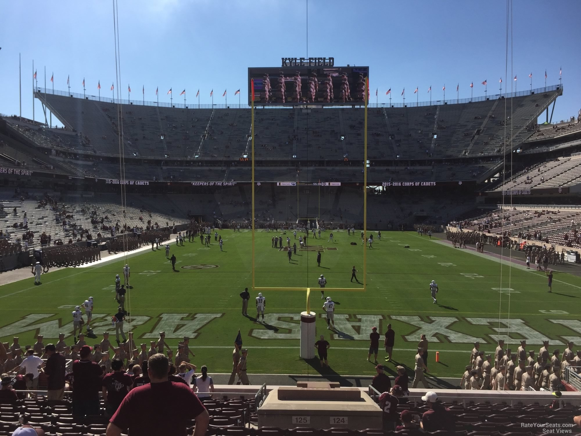 Seat View for Kyle Field Section 117, Row 20