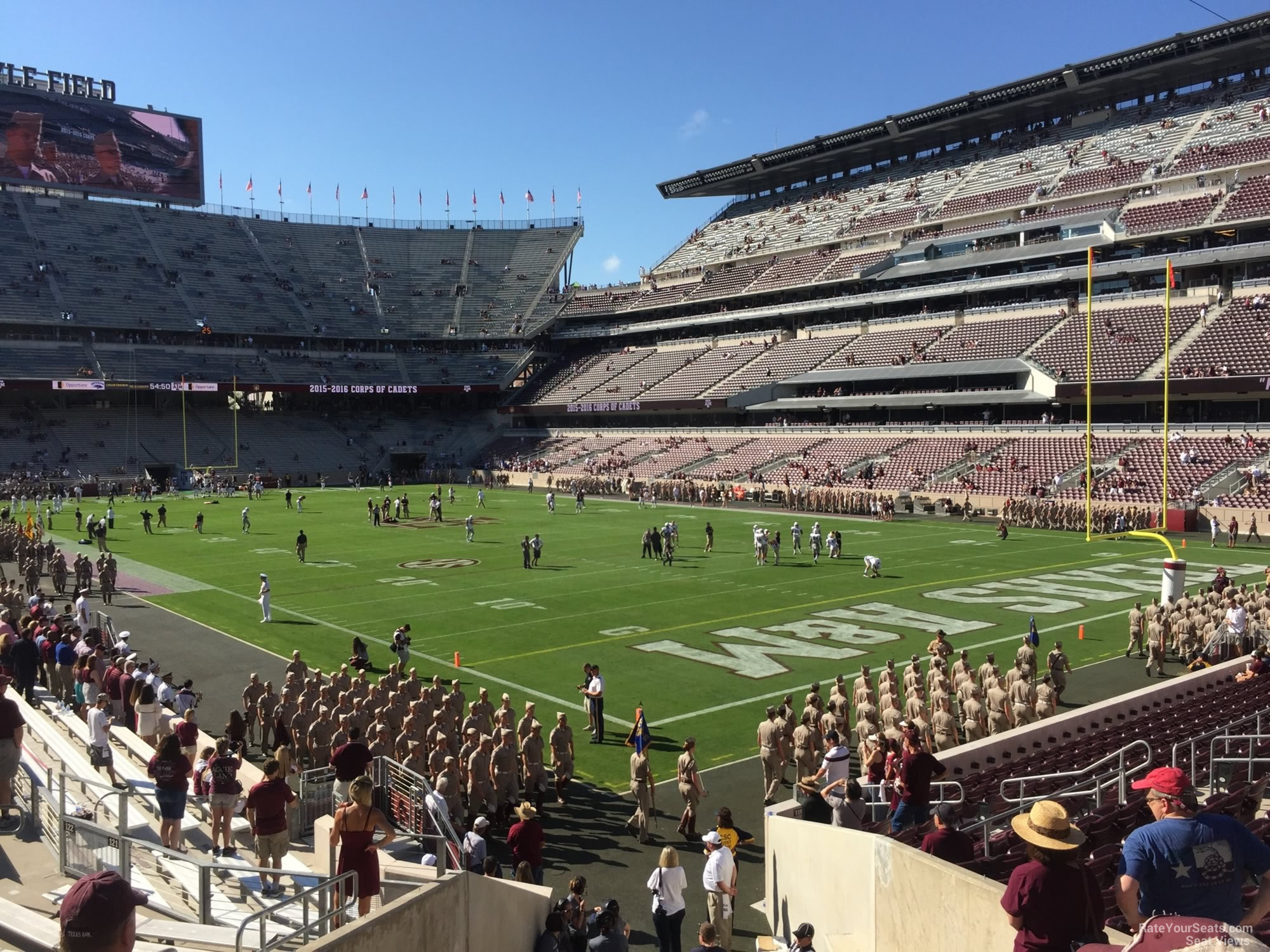 Seat View for Kyle Field Section 120, Row 20