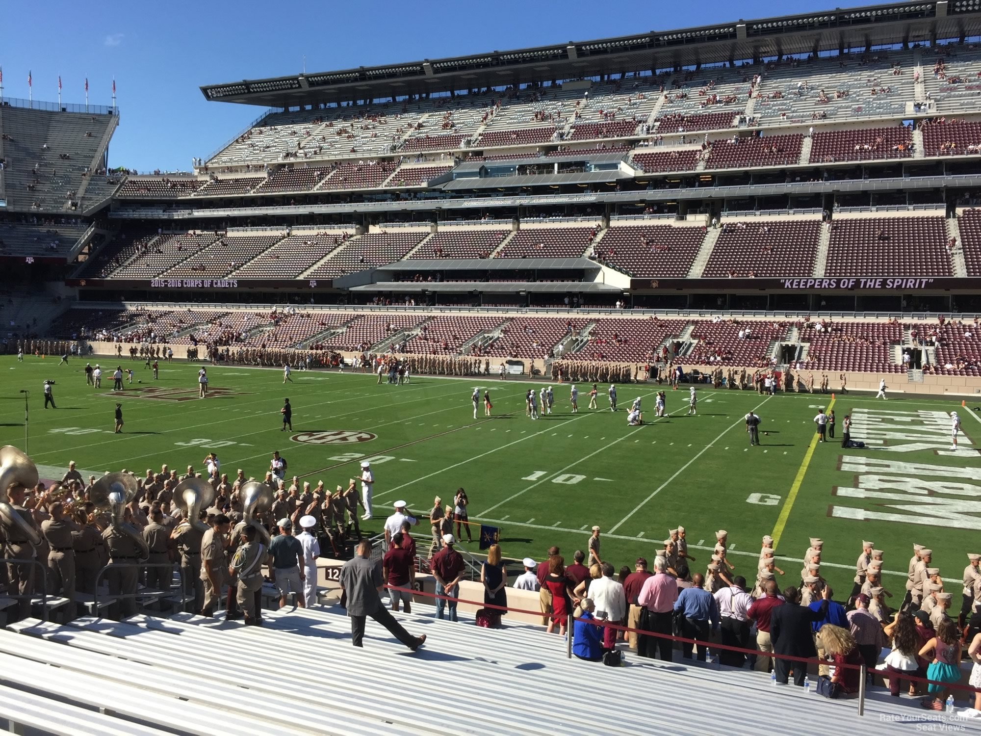 Seat View for Kyle Field Section 123, Row 20