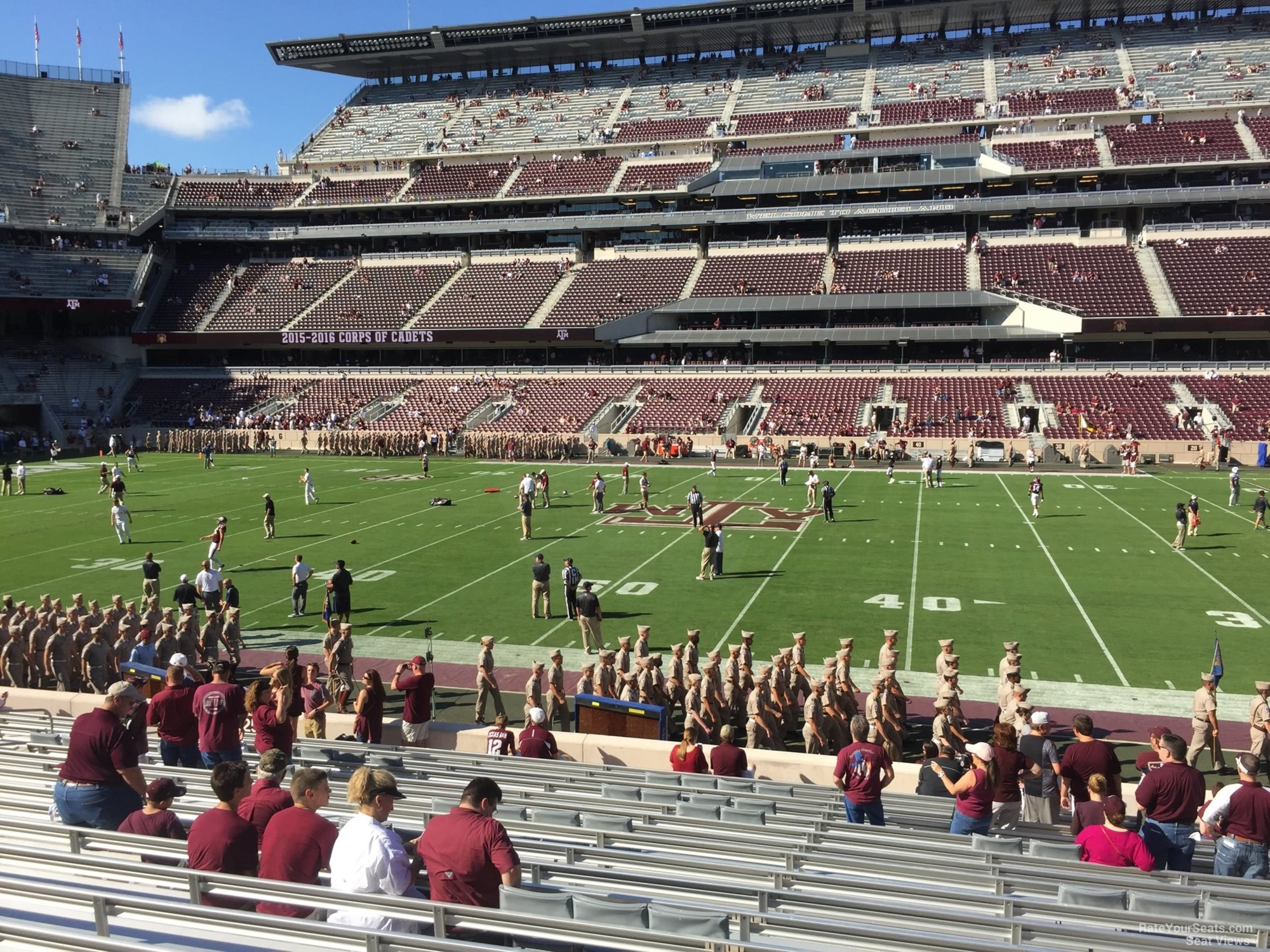 Seat View for Kyle Field Section 125, Row 20
