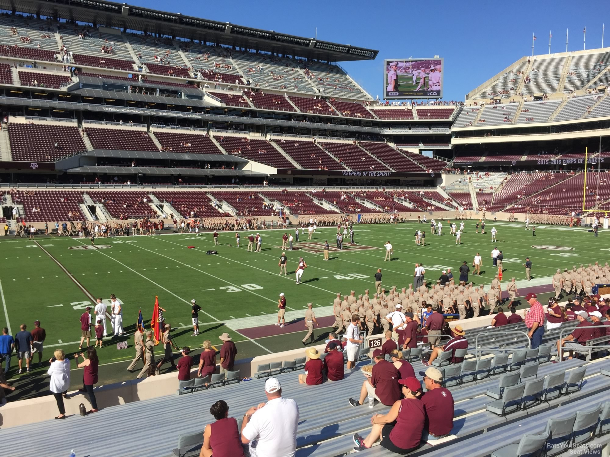 Seat View for Kyle Field Section 127, Row 20
