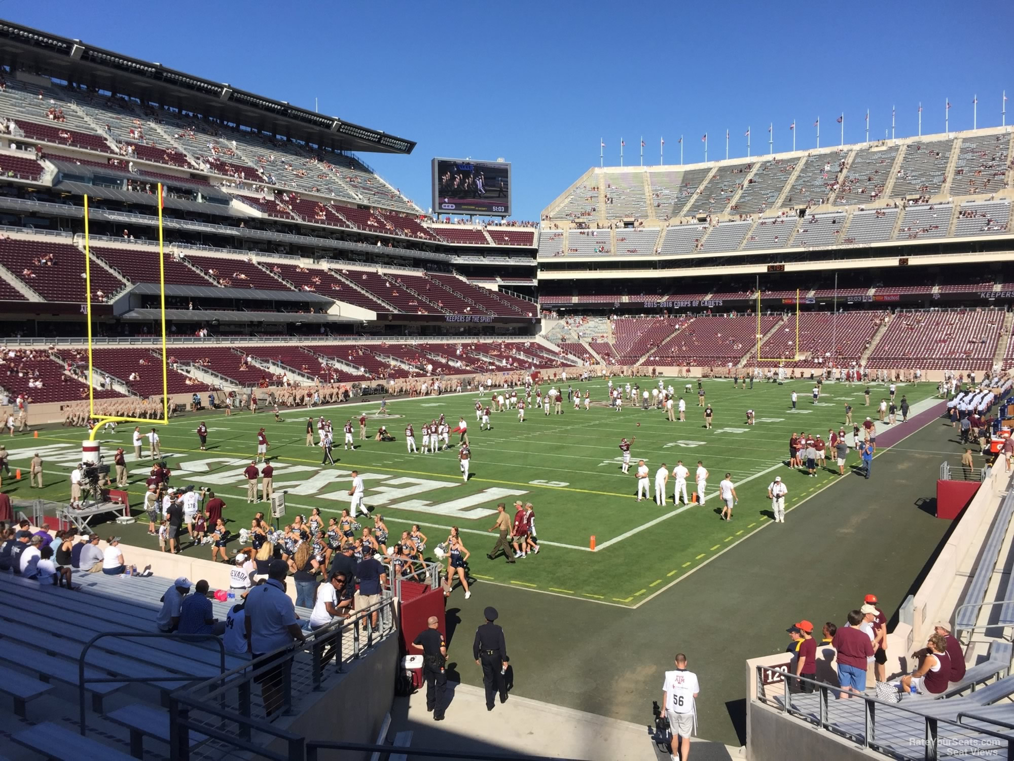 Seat View for Kyle Field Section 130, Row 20