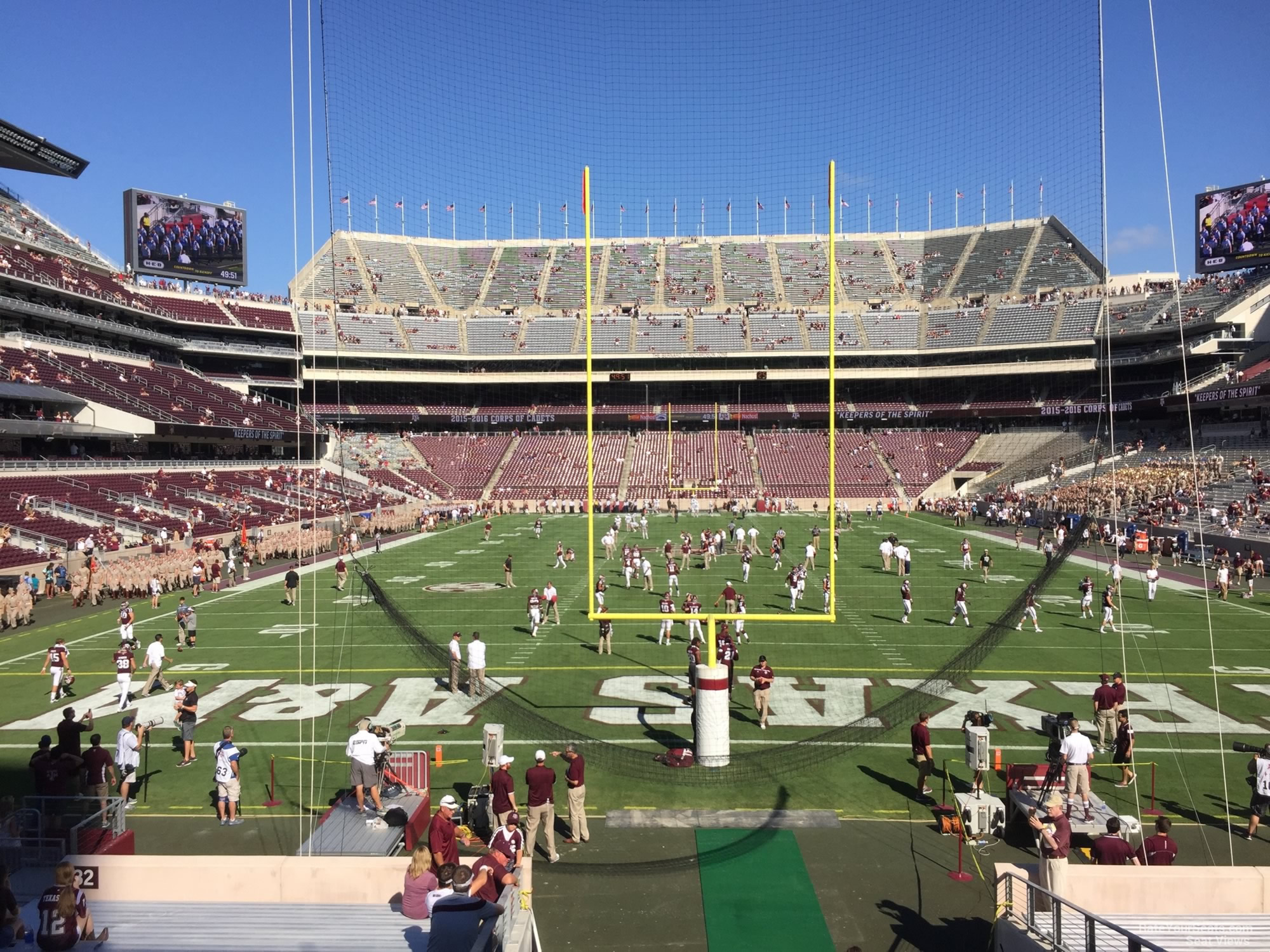 Seat View for Kyle Field Section 132, Row 20