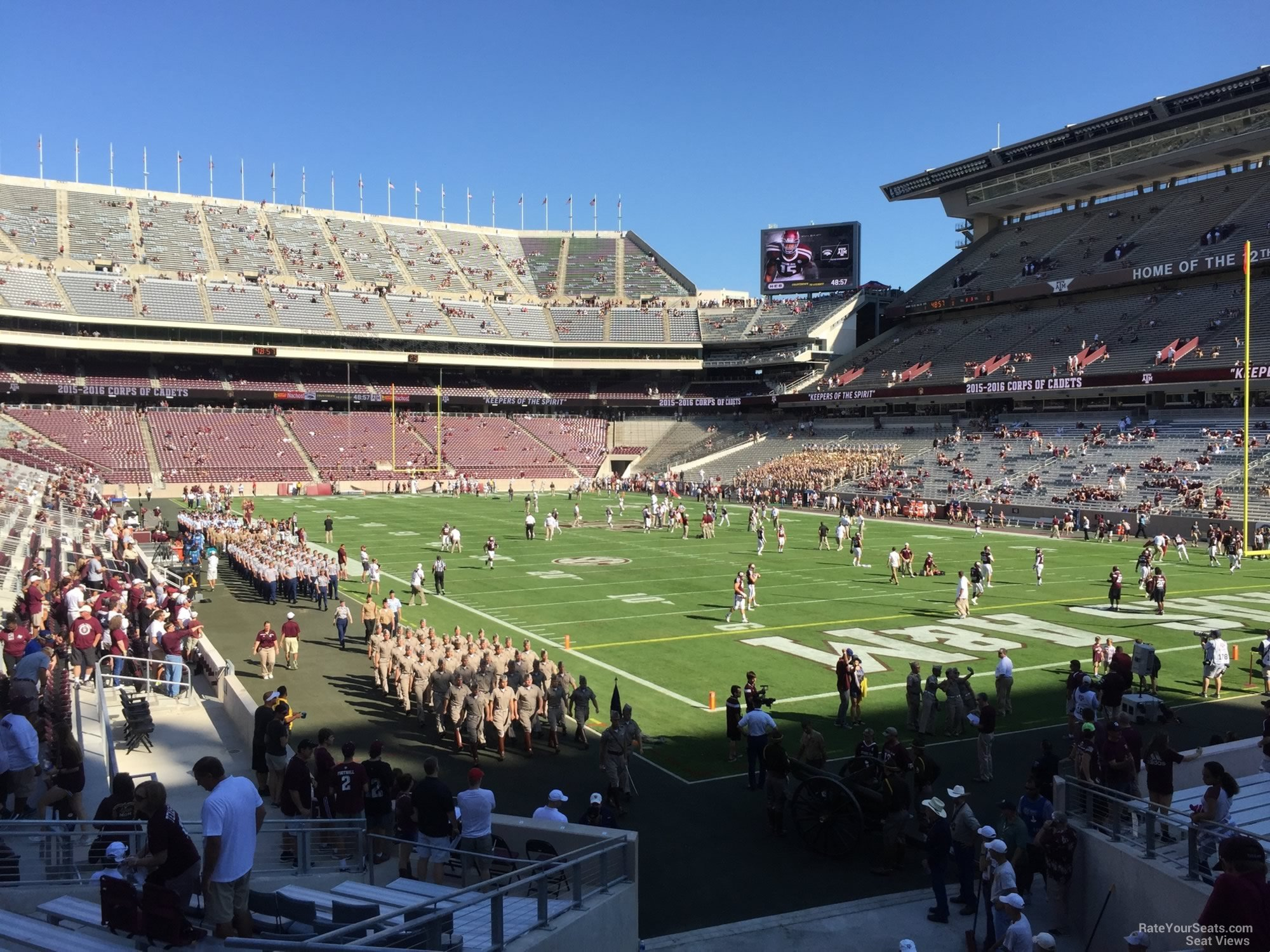 Seat View for Kyle Field Section 134, Row 20