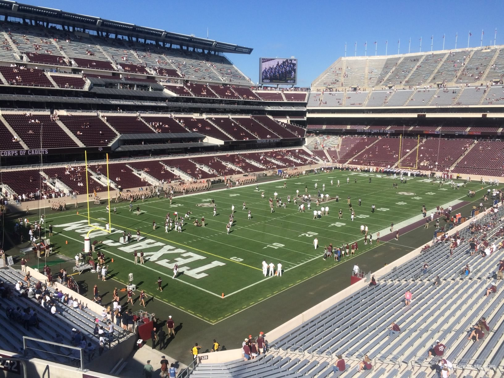 Seat View for Kyle Field Section 241, Row 7