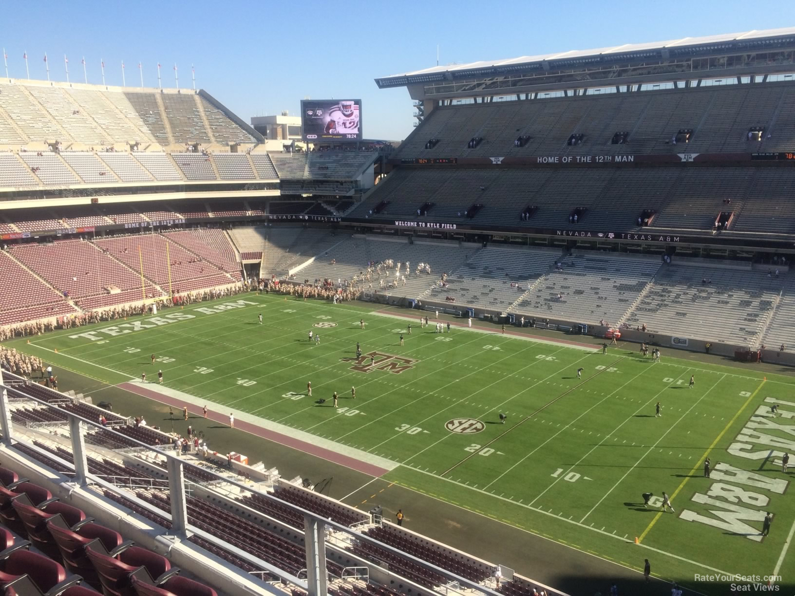 Seat View for Kyle Field Section 302, Row 3