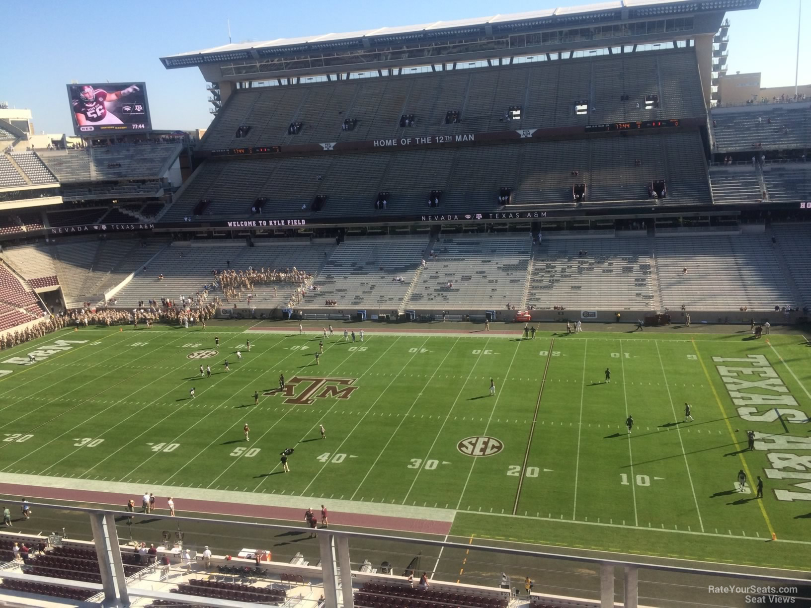 Seat View for Kyle Field Section 304, Row 3