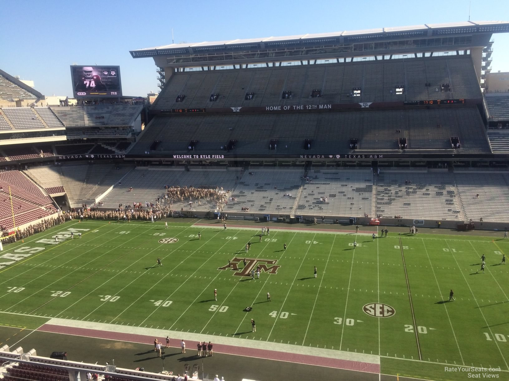 Seat View for Kyle Field Section 305, Row 3
