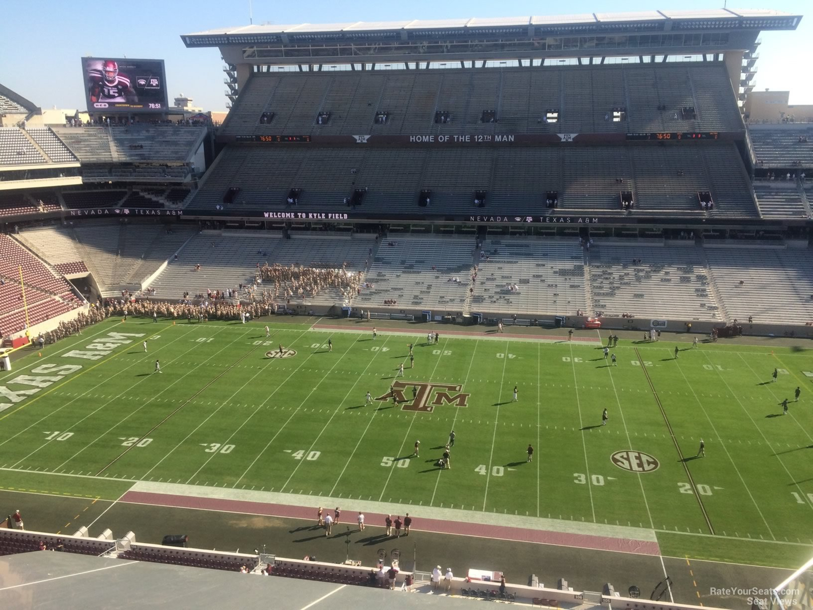 Seat View for Kyle Field Section 306, Row 3
