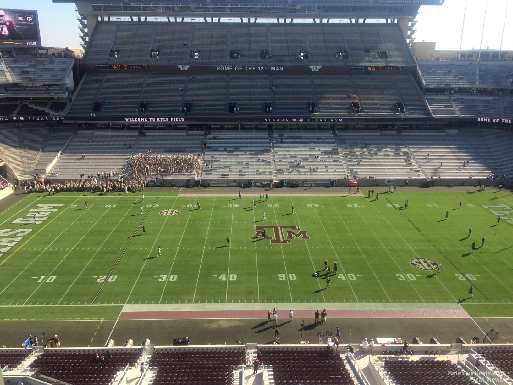 Seat View for Kyle Field Section 307, Row 3