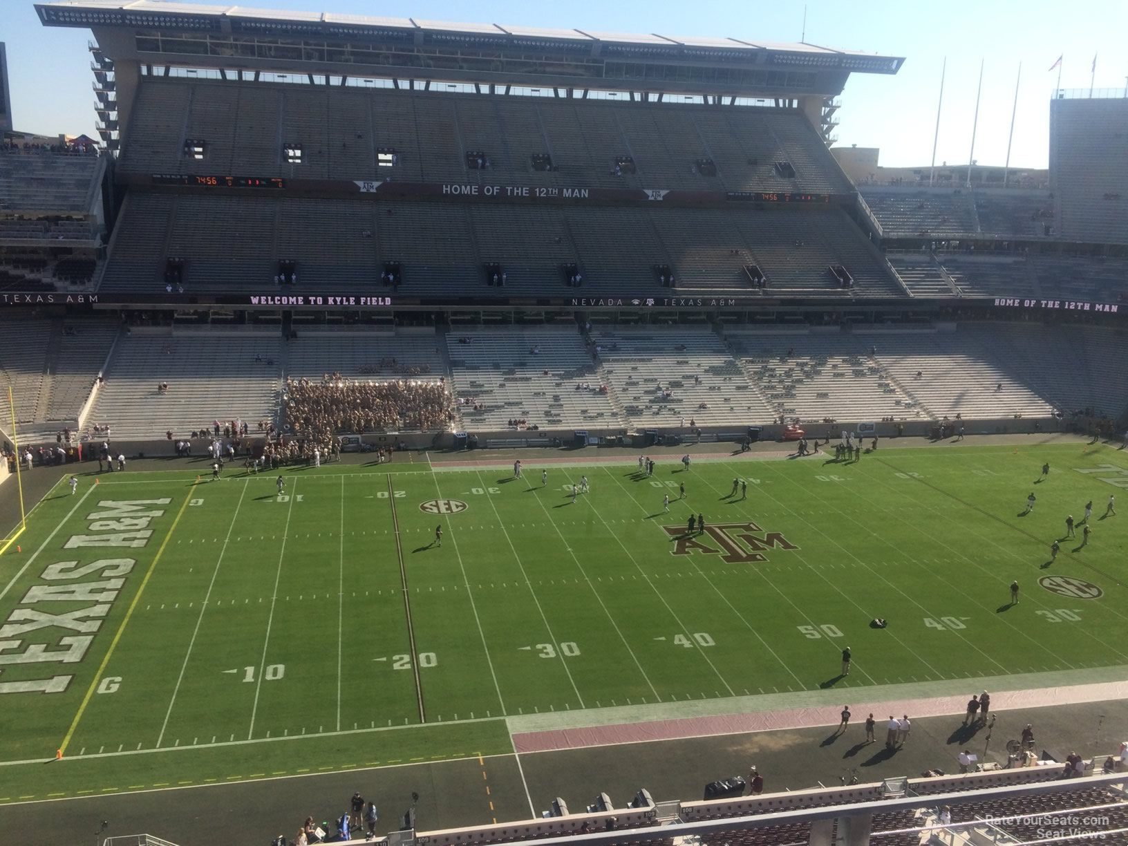 Seat View for Kyle Field Section 309, Row 3