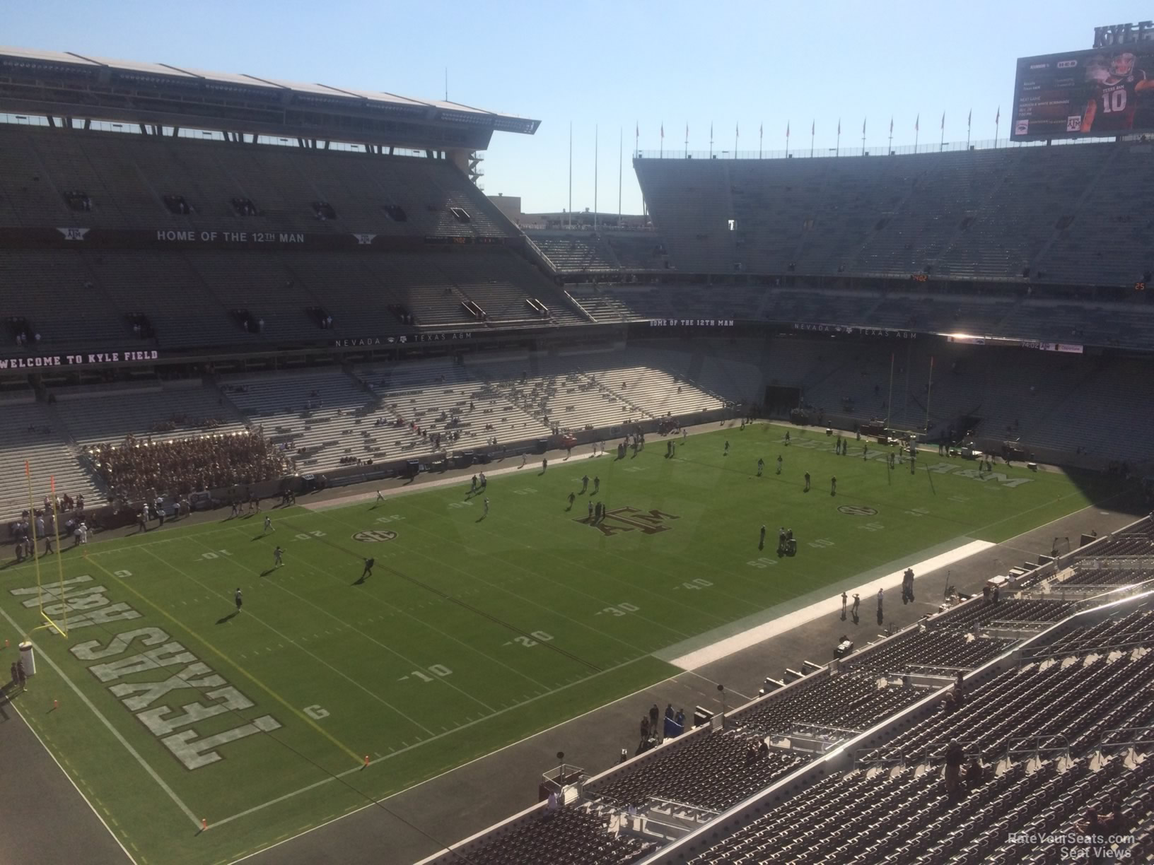Seat View for Kyle Field Section 312, Row 3