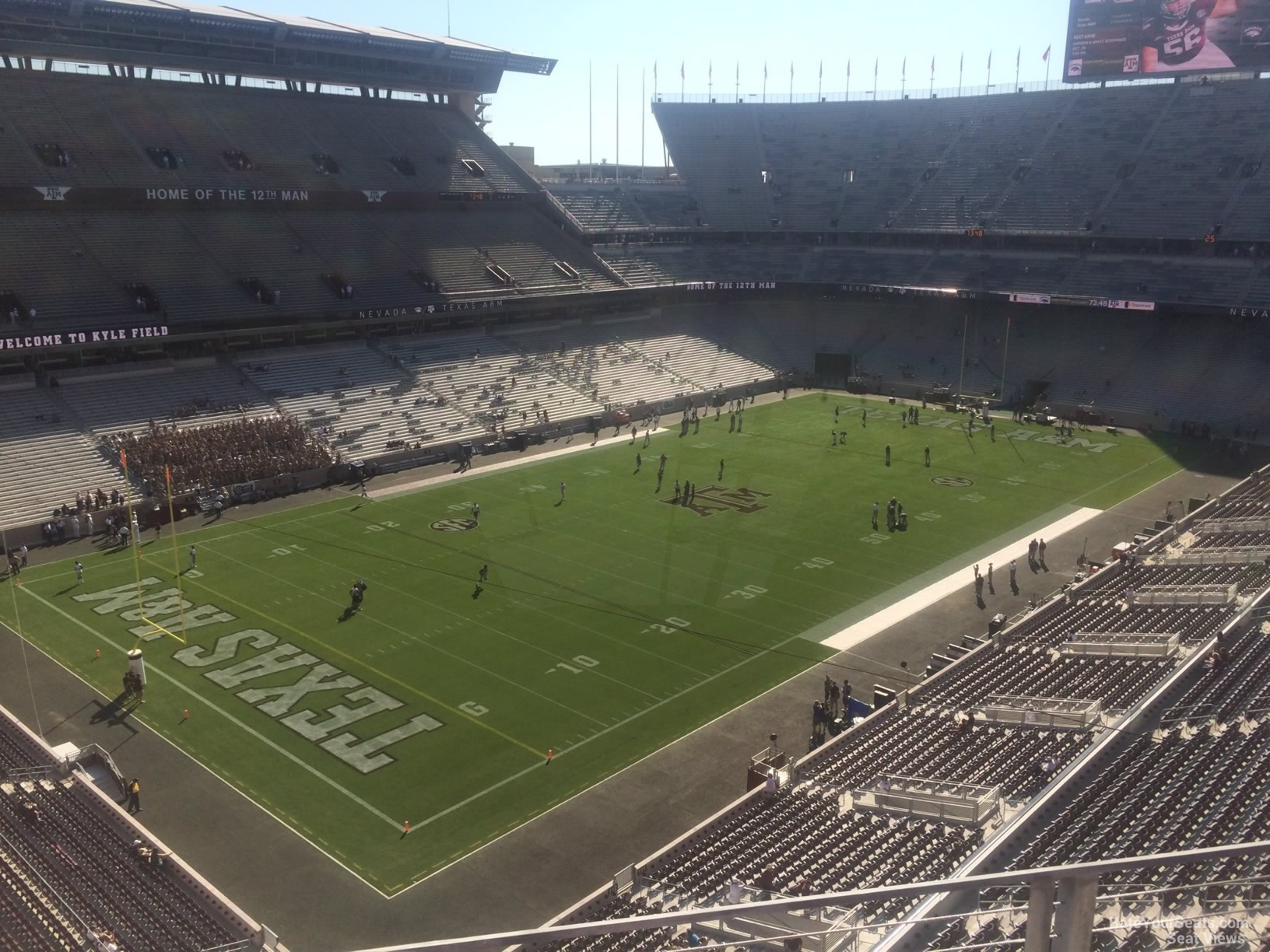 Seat View for Kyle Field Section 313, Row 3